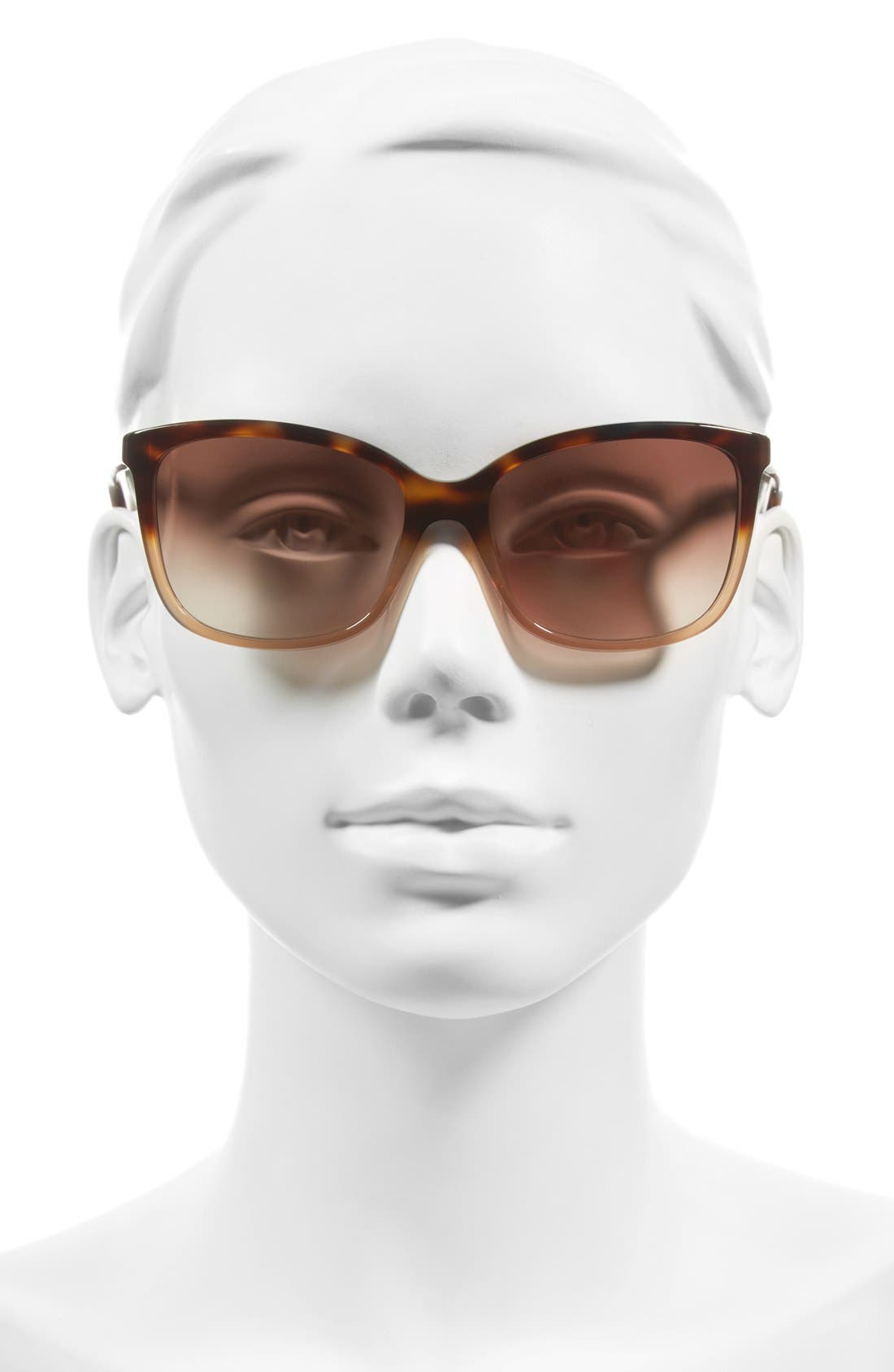 kasie 55mm cat eye sunglasses,                             Alternate thumbnail 2, color,                             Havana/ Nude