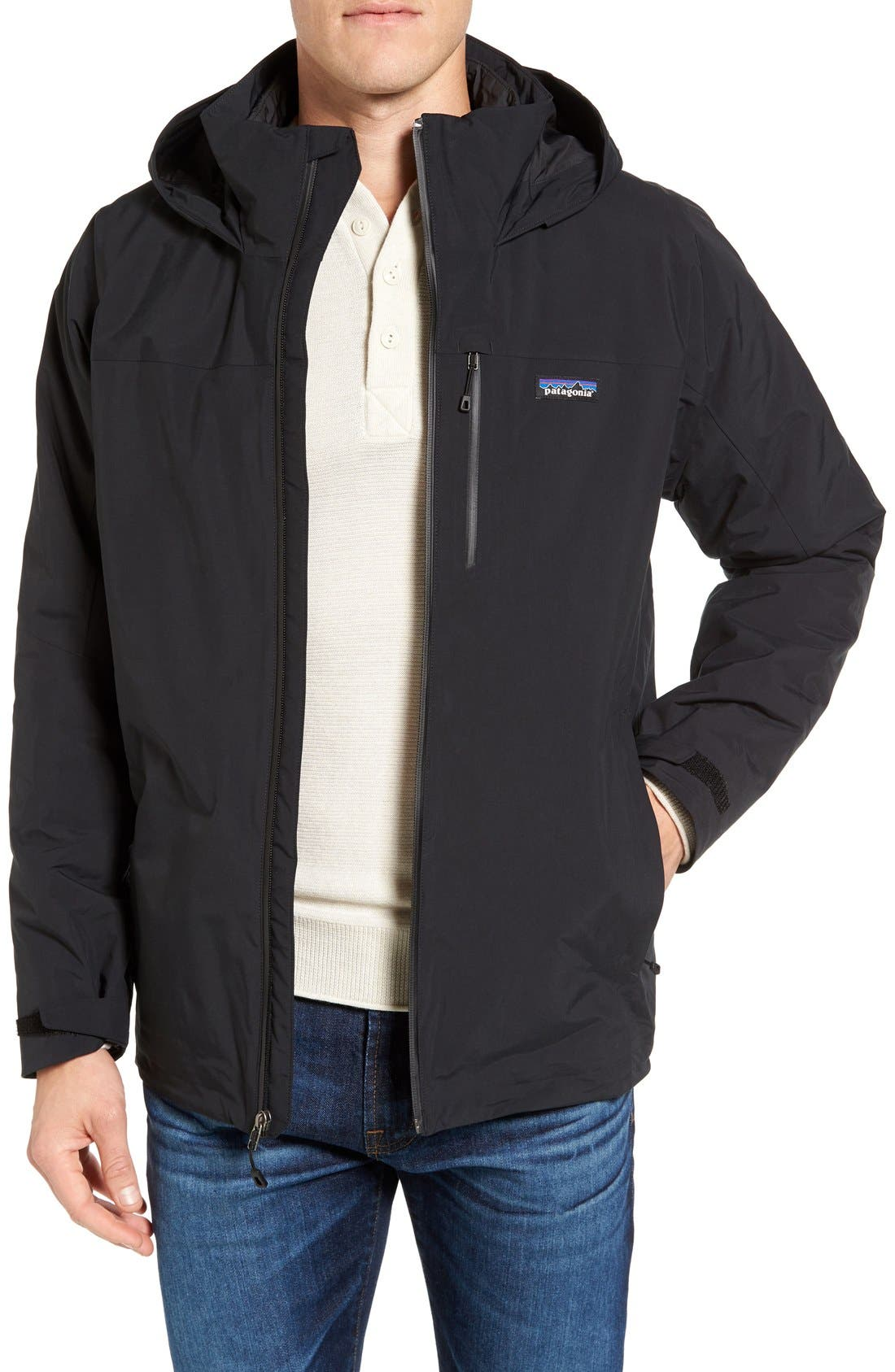 Windsweep 3-in-1 Jacket,                             Main thumbnail 1, color,                             Black