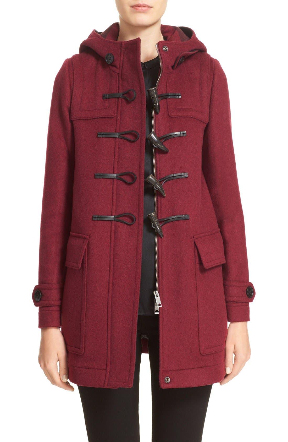 Alternate Image 1 Selected - Burberry 'Baysbrooke' Wool Duffle Coat