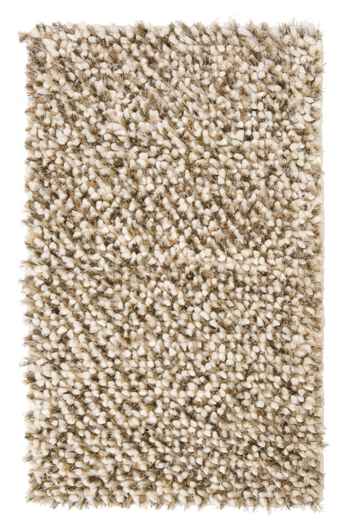 Villa Home Collection Marshmallow Handwoven Shag Rug