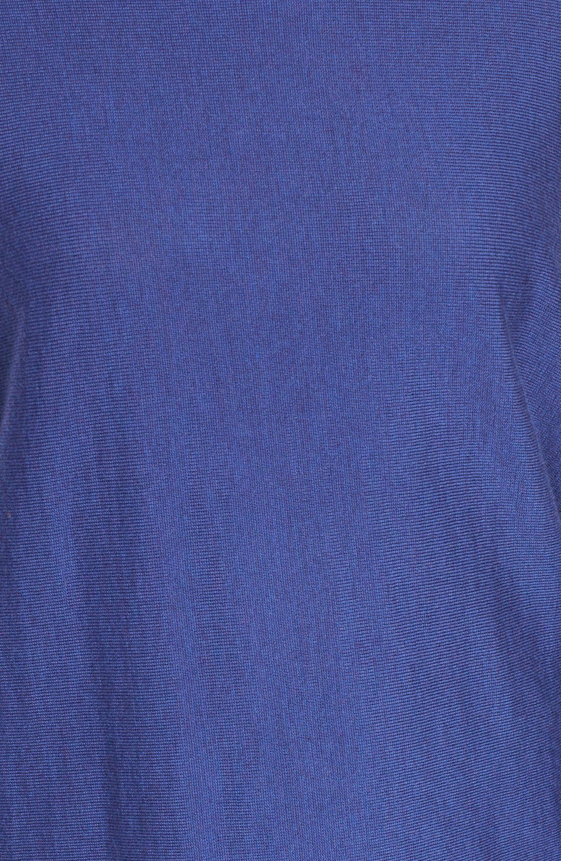 Asymmetrical Merino Jersey Turtleneck,                             Alternate thumbnail 5, color,                             Adriatic