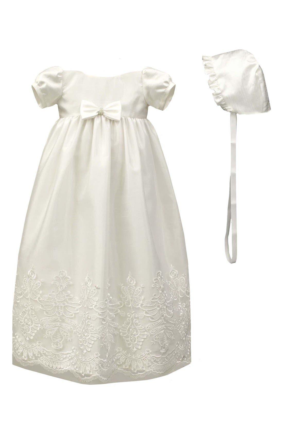 C.I. CASTRO & CO. Christening Gown & Bonnet Set
