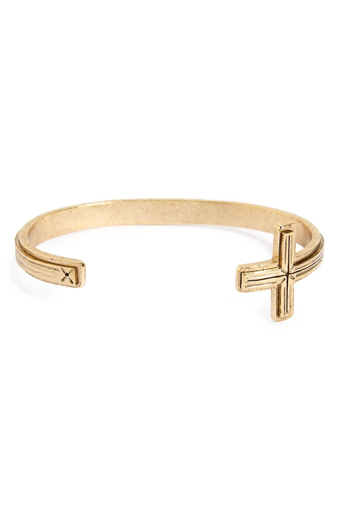 Virgins Saints & Angels Santissimo Open Cross Cuff Bracelet