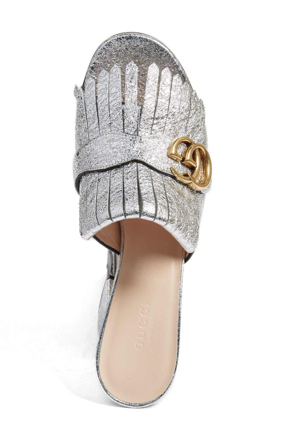 Alternate Image 3  - Gucci GG Marmont Peep Toe Kiltie Mule (Women)