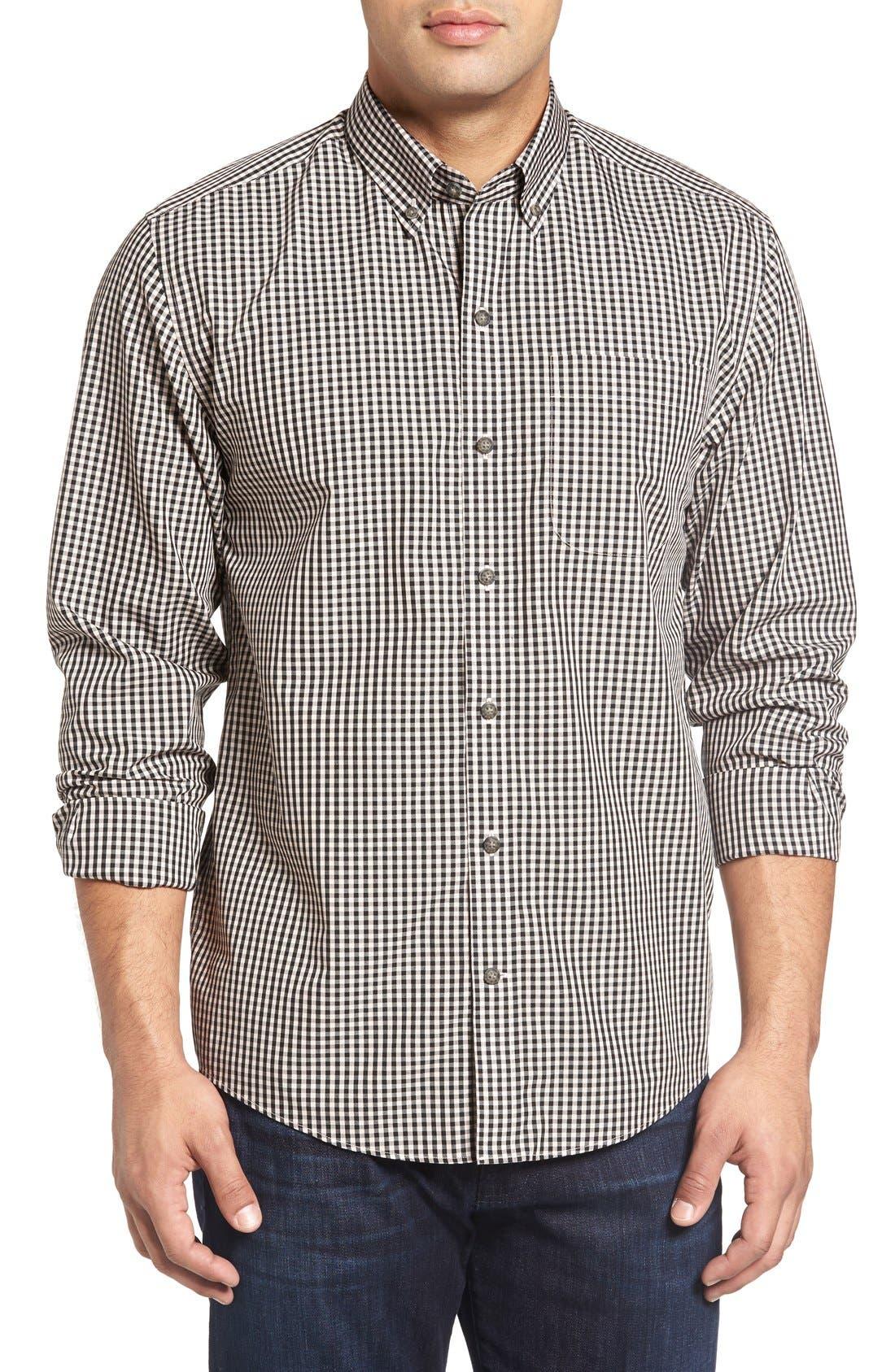 Cutter & Buck 'Willard' Check Sport Shirt (Big & Tall)