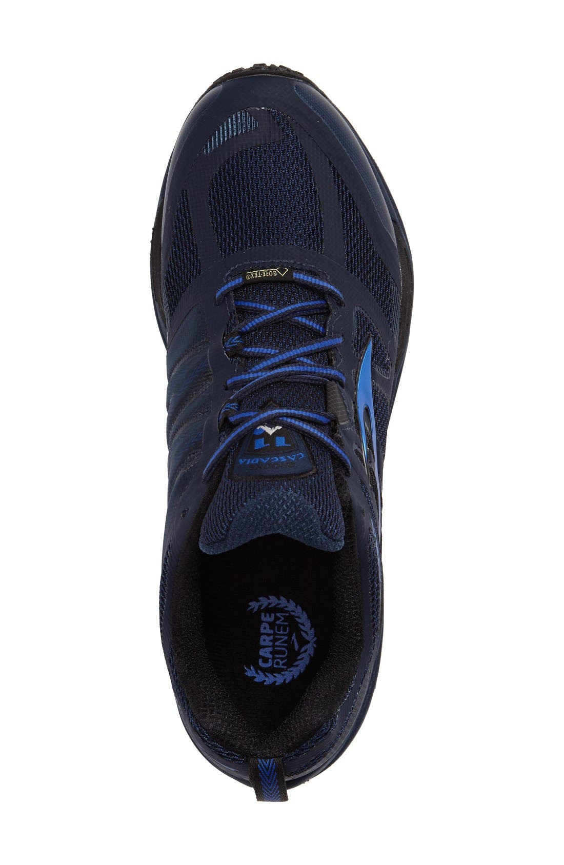 Cascadia 11 GTX Trail Running Shoe,                             Alternate thumbnail 3, color,                             Dress Blue/ Electric Blue