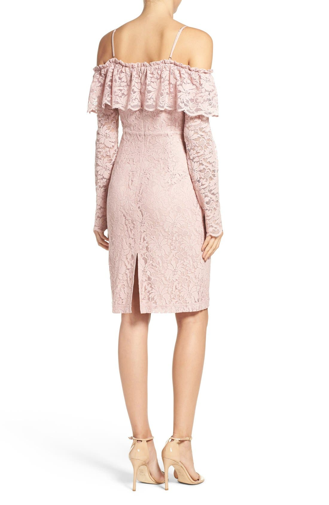 Alternate Image 2  - Bardot Allessandra Lace Sheath Dress