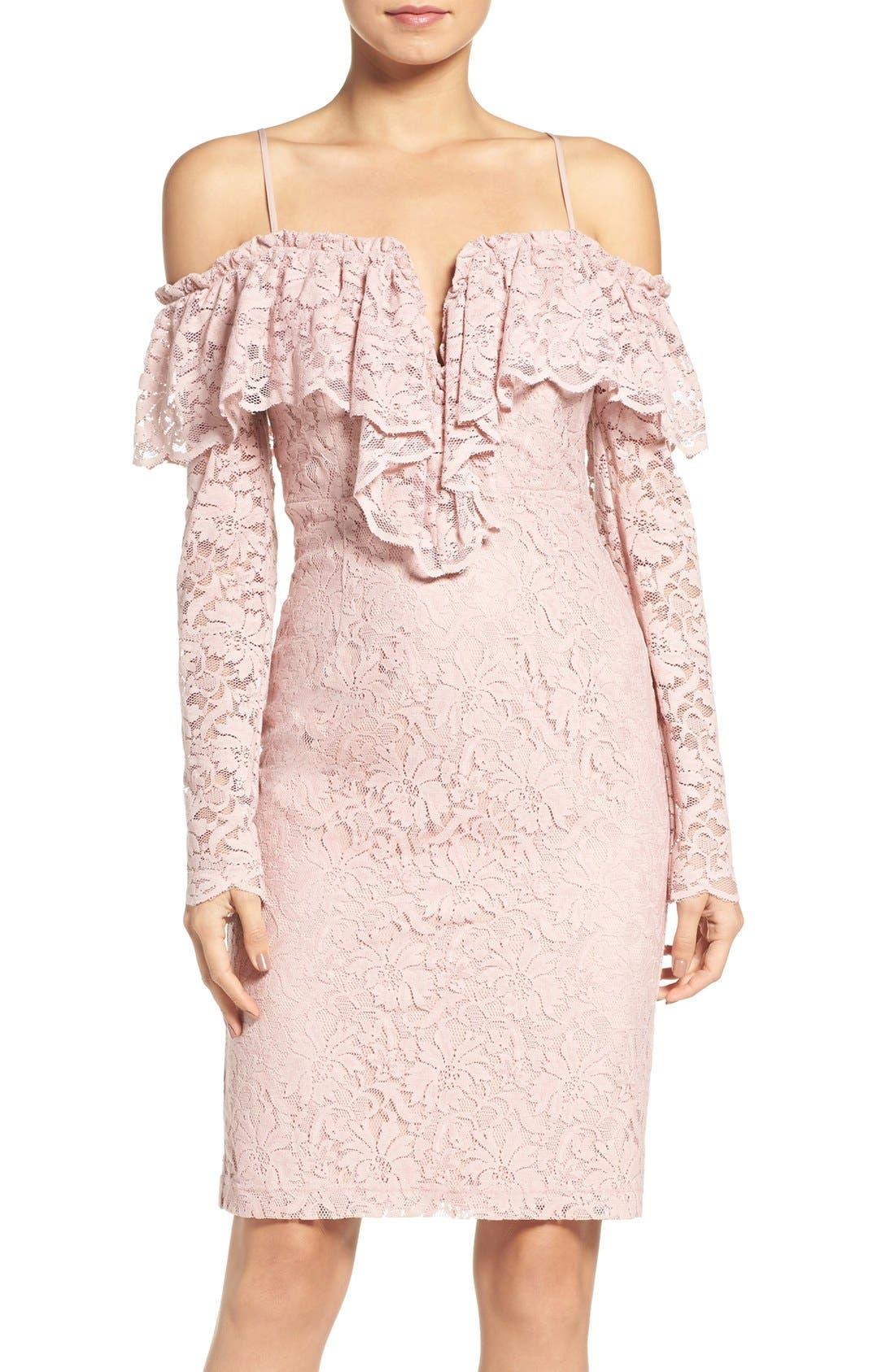 Main Image - Bardot Allessandra Lace Sheath Dress