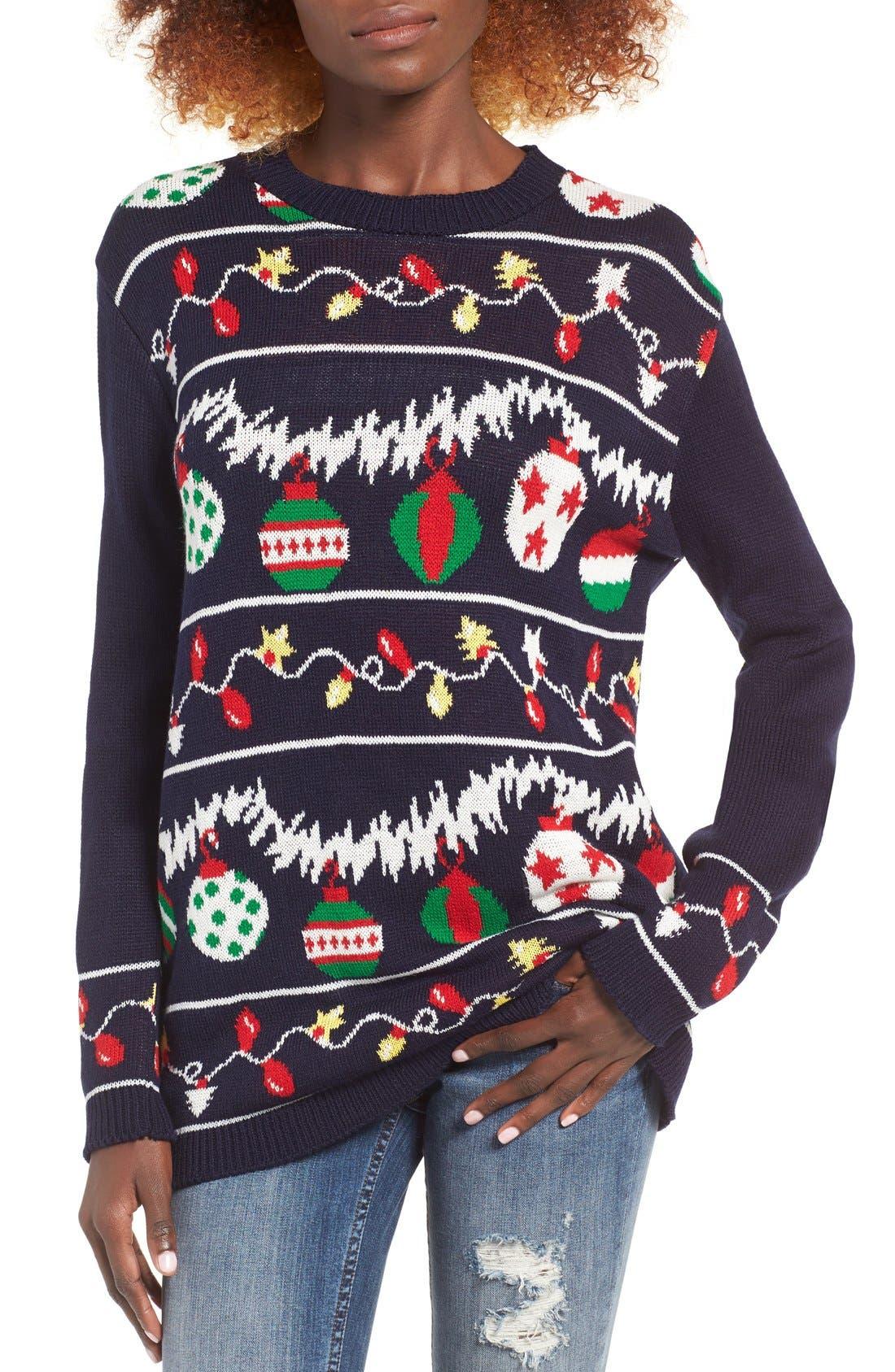 Alternate Image 1 Selected - Cotton Emporium Ornament Christmas Sweater