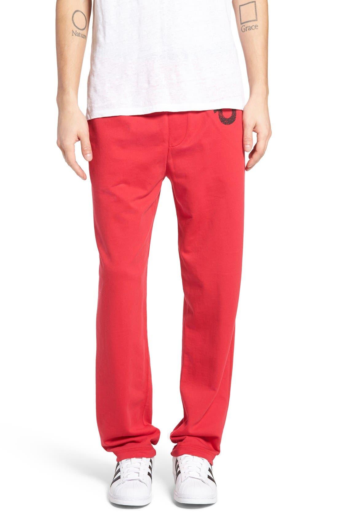 Alternate Image 1 Selected - True Religion Brand Jeans Open Leg Sweatpants