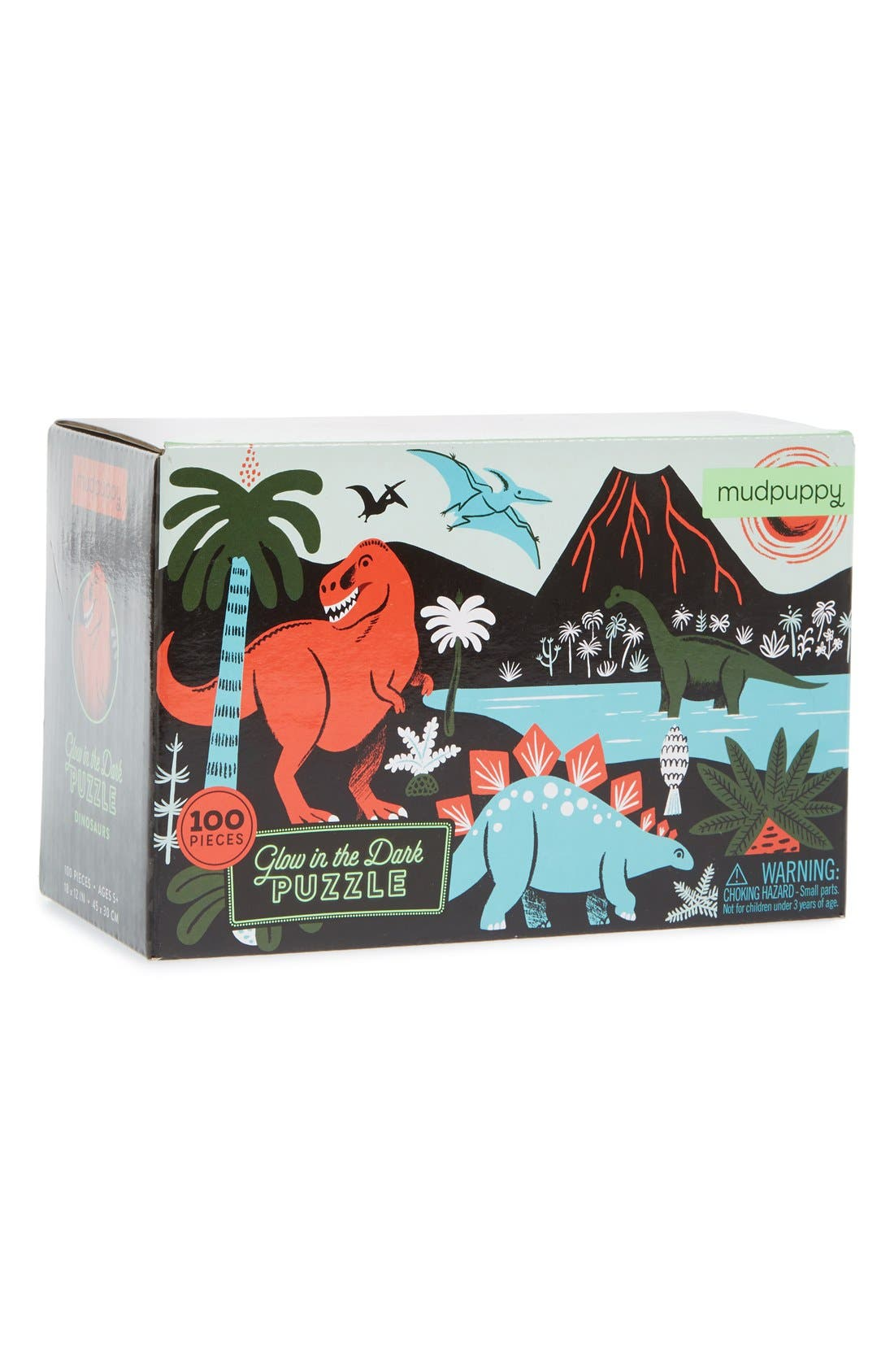 Mudpuppy Dinosaurs Glow in the Dark Puzzle,                             Main thumbnail 1, color,                             Multi