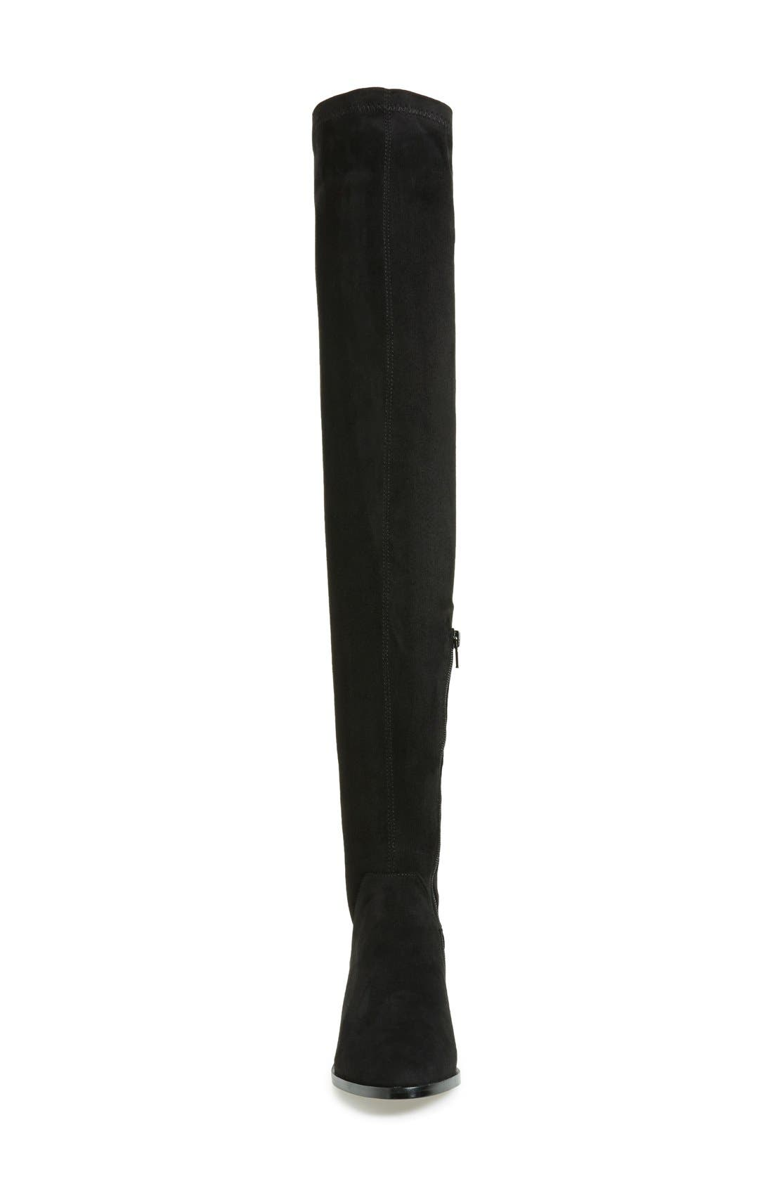 Gabriana Stretch Over the Knee Boot,                             Alternate thumbnail 3, color,                             Black