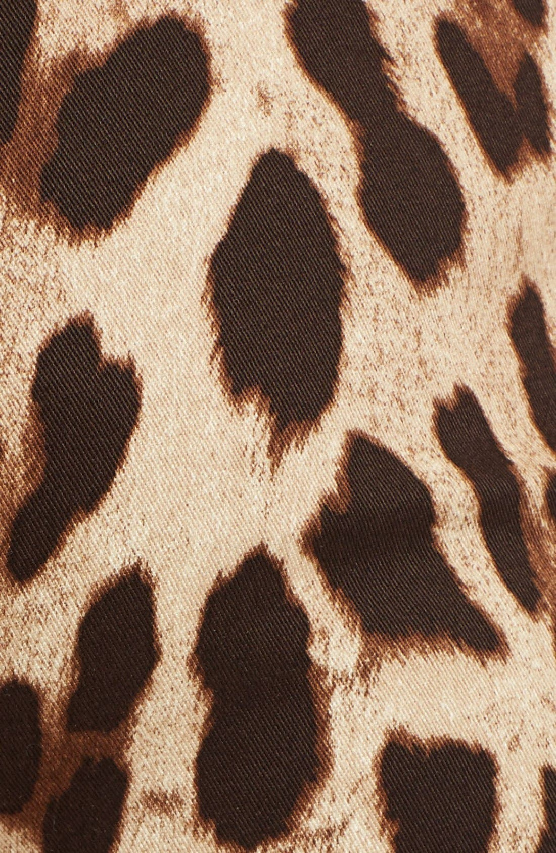 Leopard Print Ankle Pants,                             Alternate thumbnail 3, color,                             Leopard