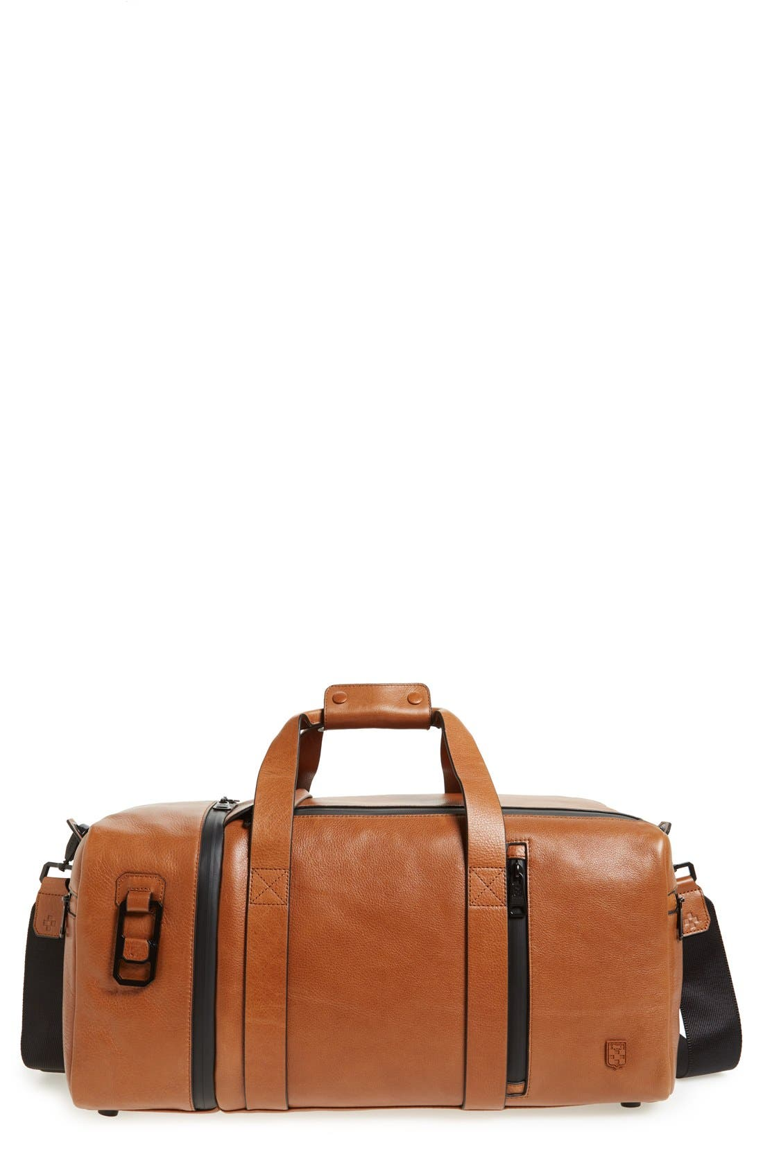 Vince Camuto 'Mestr' Leather & Suede Duffel Bag