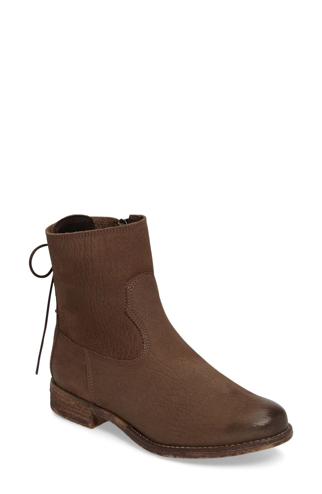 Sienna 01 Lace Back Bootie,                         Main,                         color, Taupe Leather