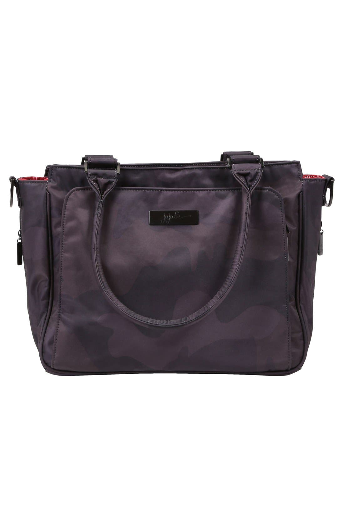 'Be Classy - Onyx Collection' Messenger Diaper Bag,                             Alternate thumbnail 2, color,                             Black Ops