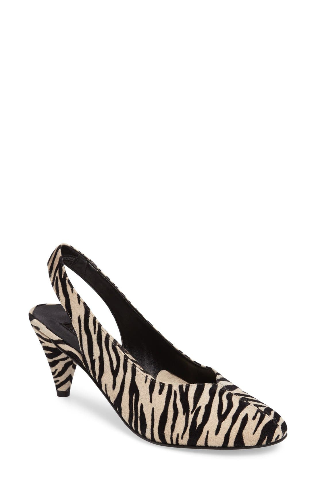 'Jazz' Slingback Pump,                             Main thumbnail 1, color,                             Black Multi