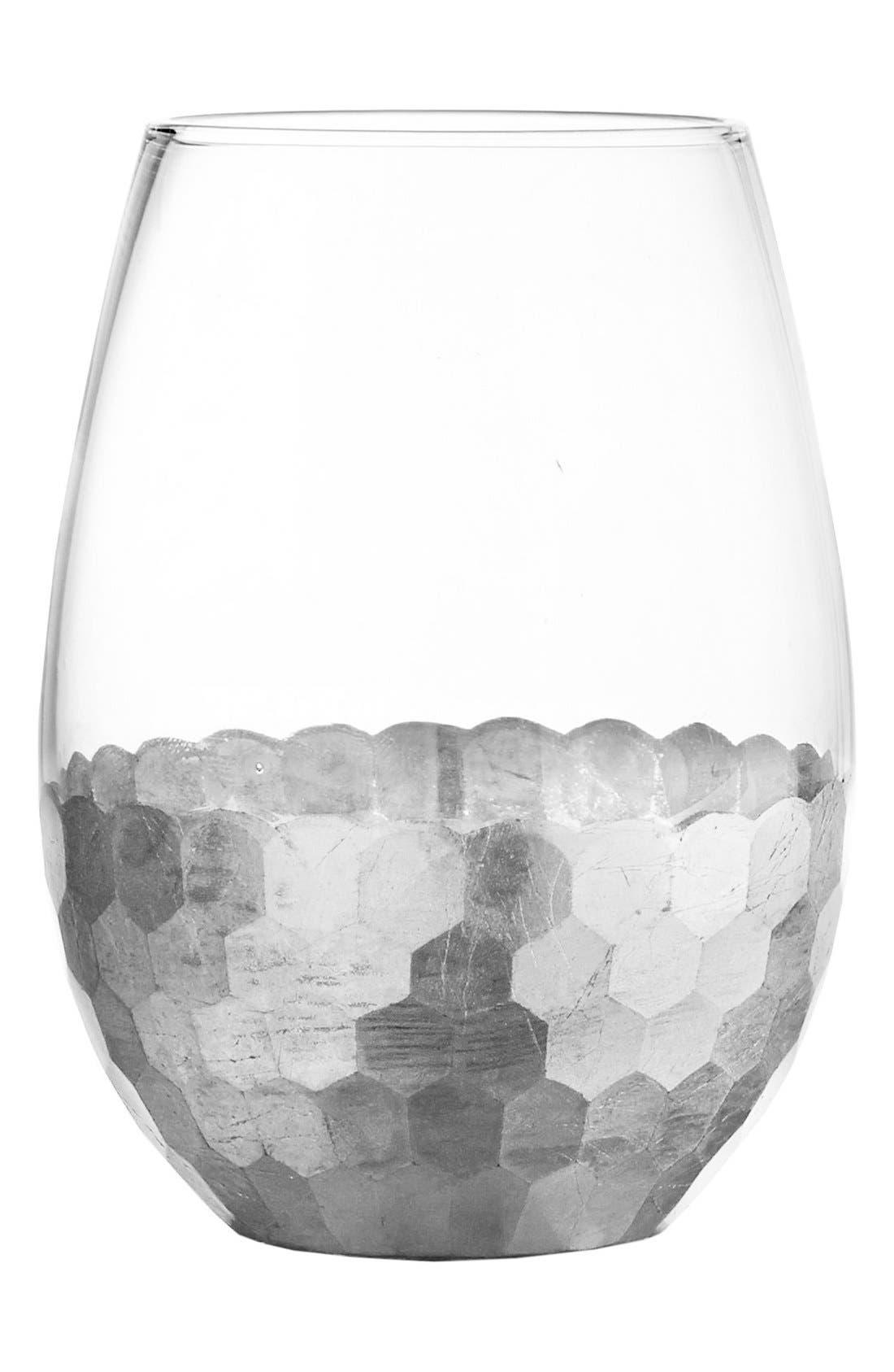 Daphne Set of 4 Stemless Wine Glasses,                         Main,                         color, Platinum