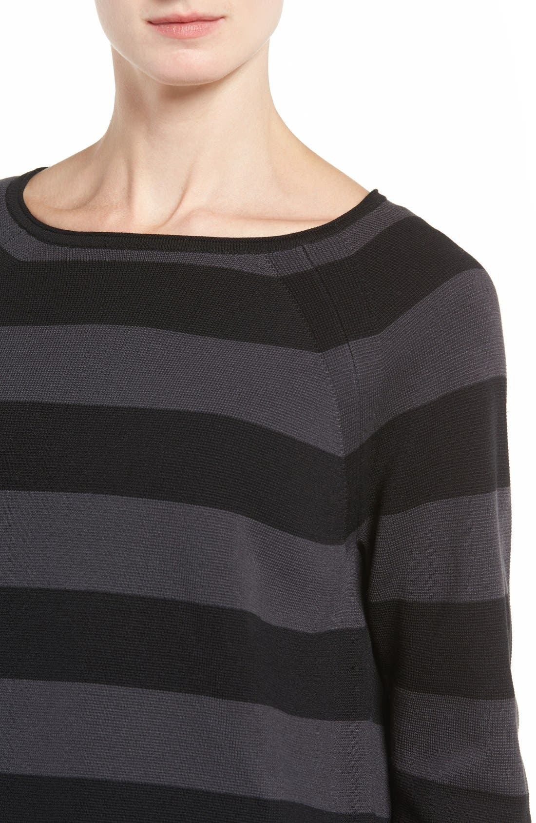 Alternate Image 5  - Eileen Fisher Crop Silk & Organic Cotton Top (Regular & Petite)