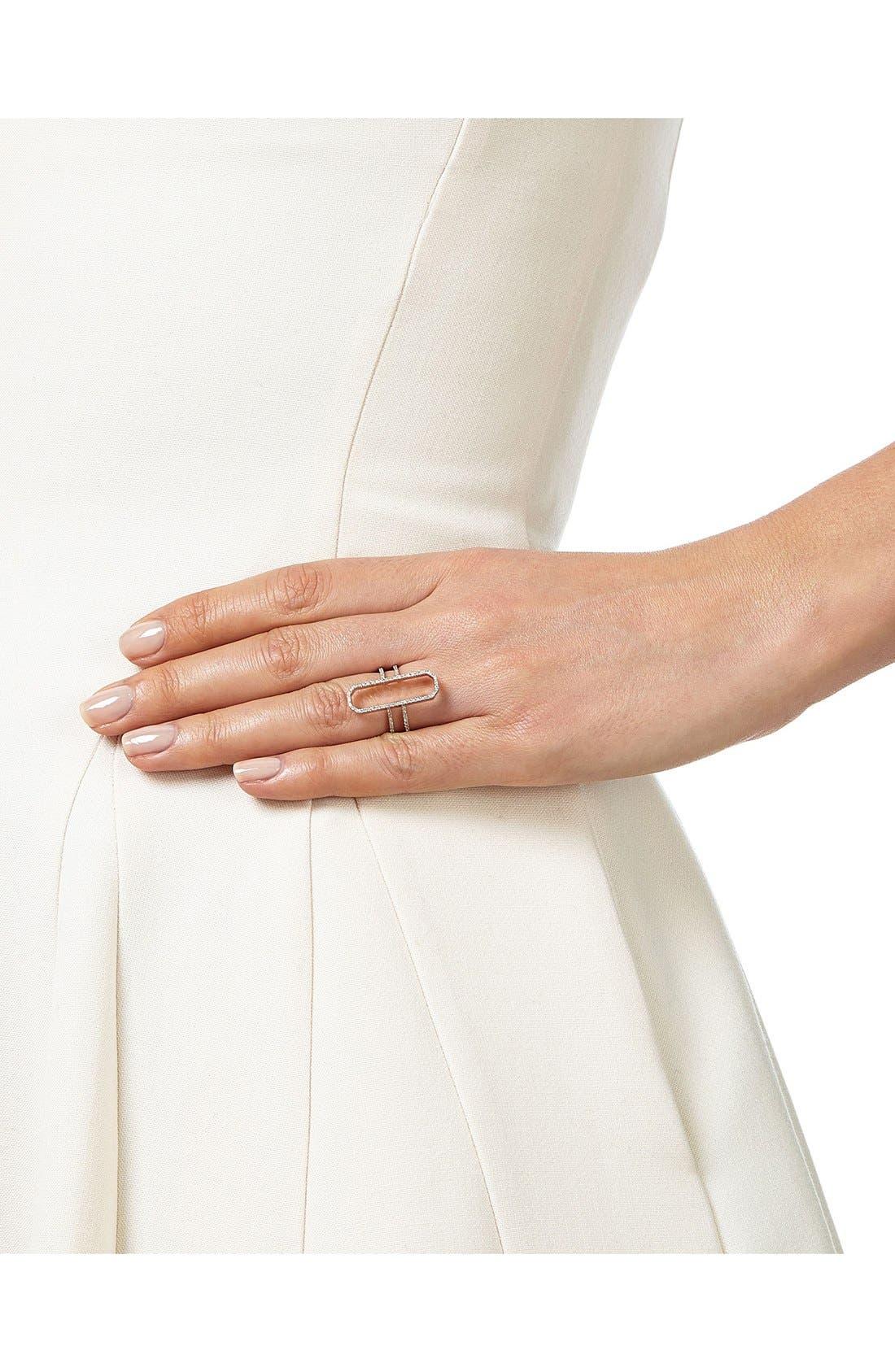Naida Diamond Cocktail Ring,                             Alternate thumbnail 2, color,                             Rose Gold/ Diamond