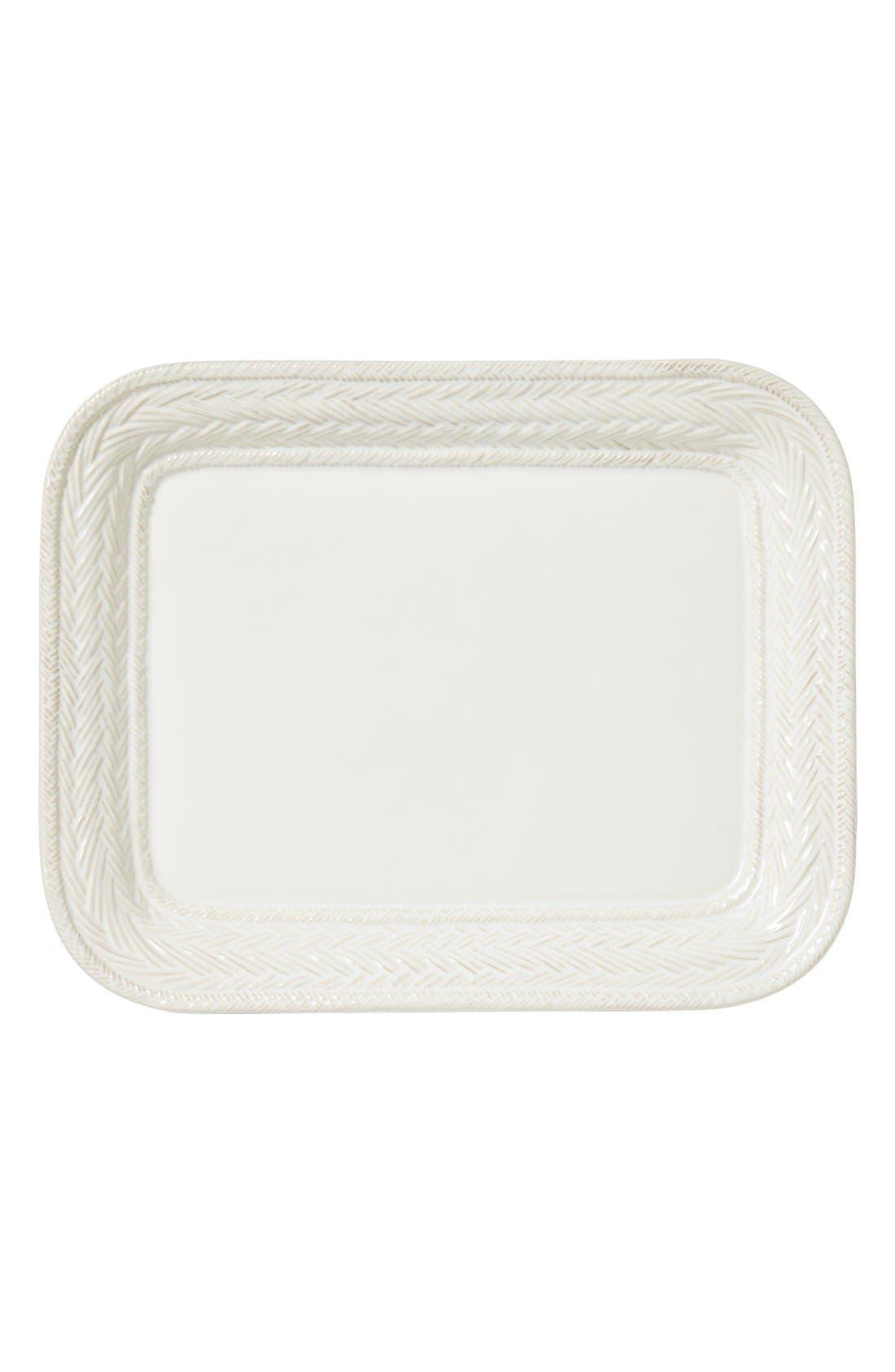 Le Panier Large Ceramic Platter,                             Main thumbnail 1, color,                             White