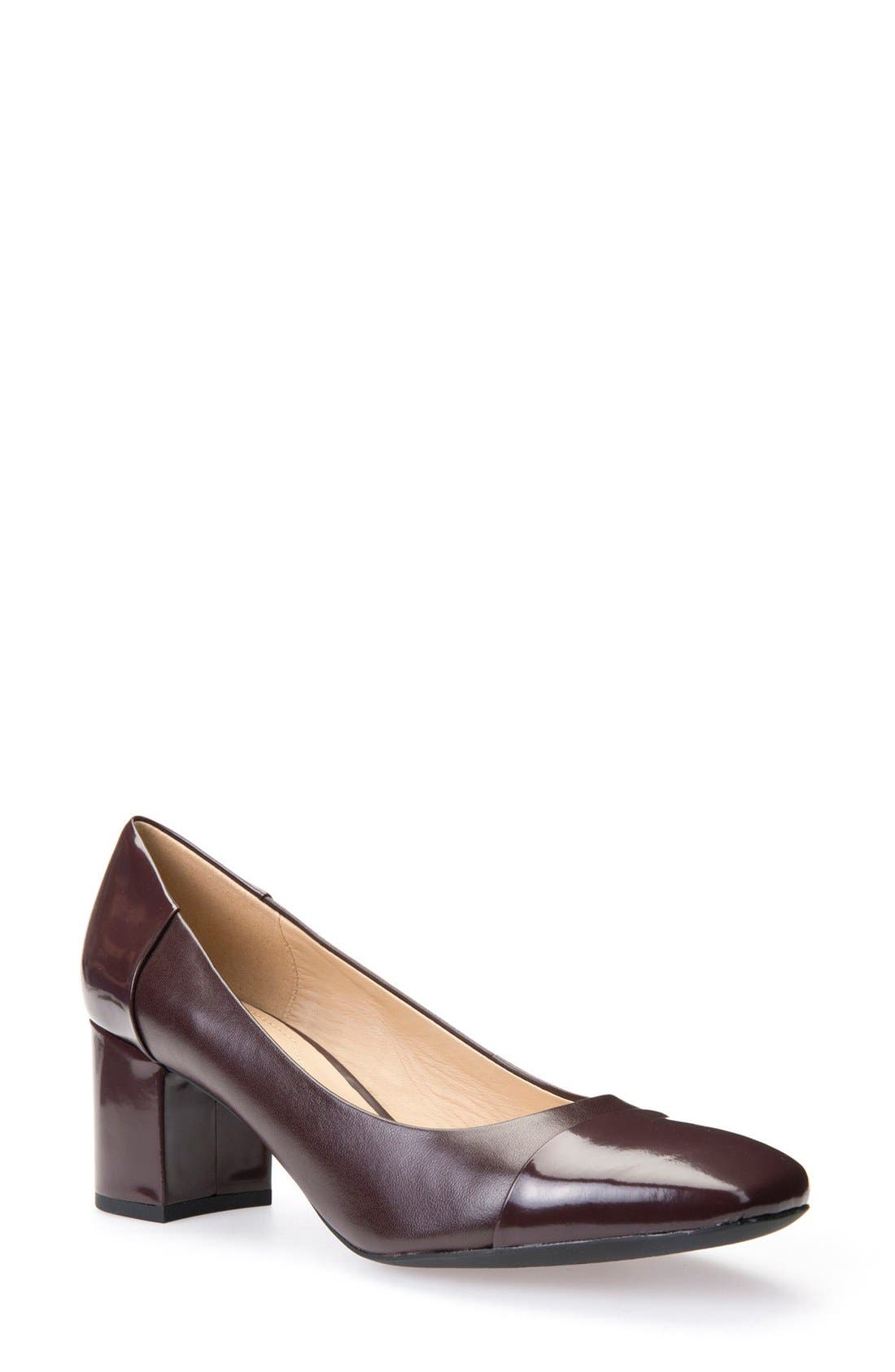 Alternate Image 1 Selected - Geox New Symphony Cap Toe Pump (Women)