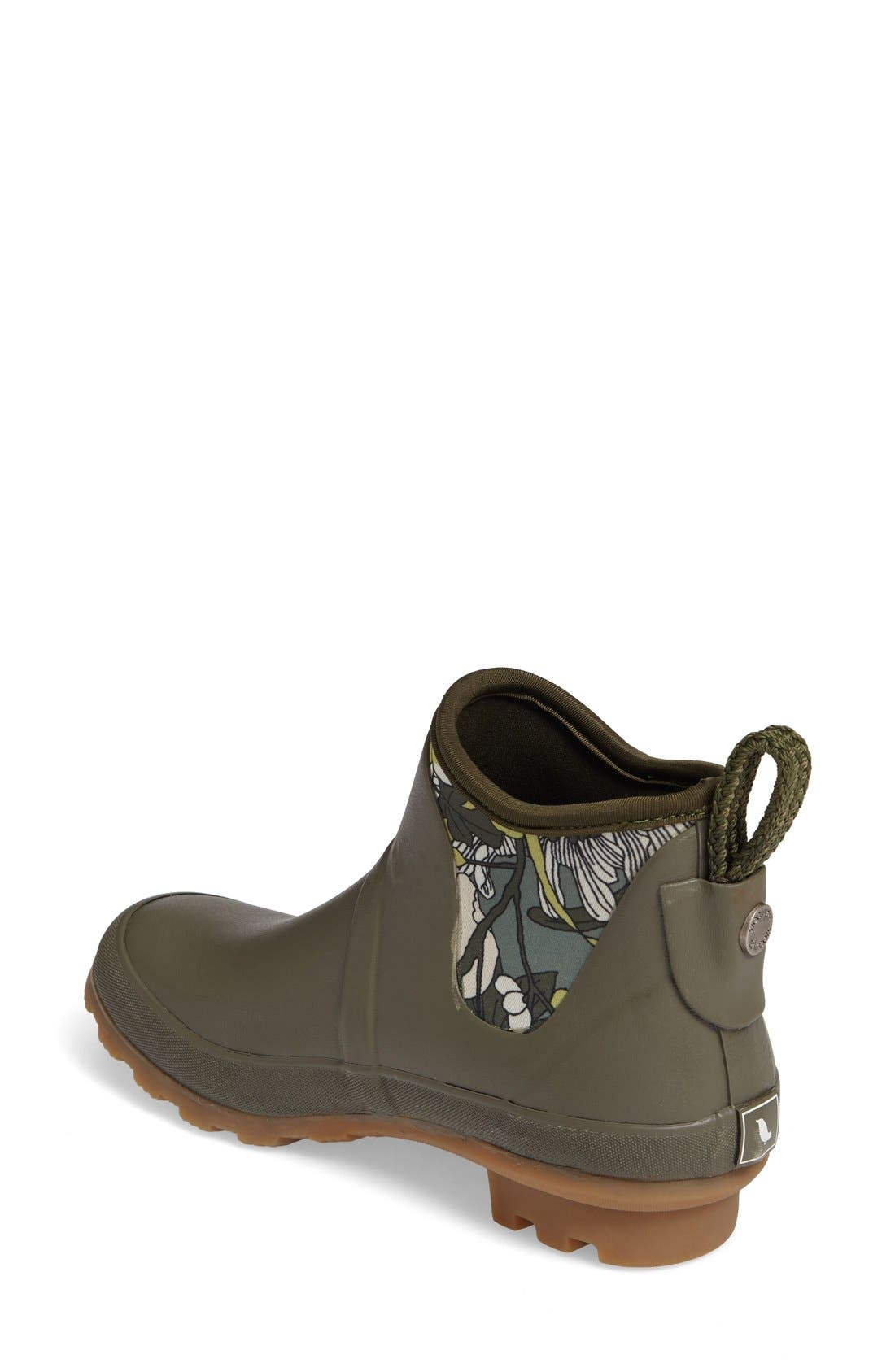 Mano Waterproof Rain Boot,                             Alternate thumbnail 2, color,                             Olive Flower Power