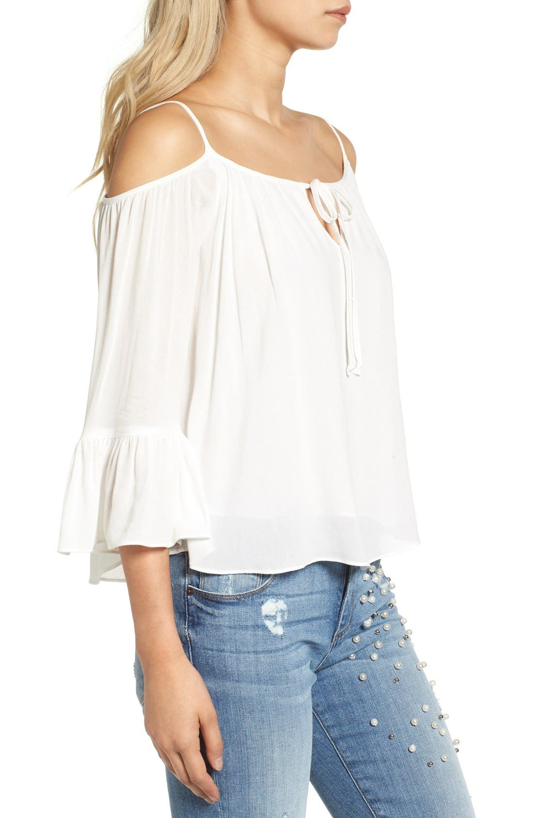 Alternate Image 3  - Sun & Shadow Off the Shoulder Ruffle Top