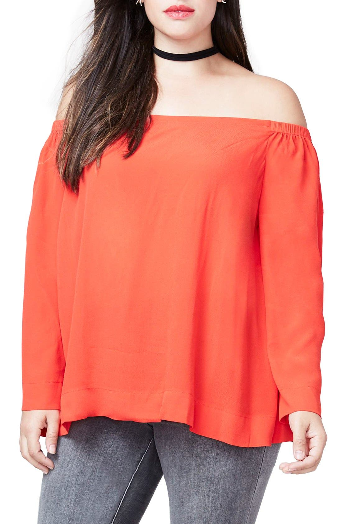 RACHEL Rachel Roy Off the Shoulder Top (Plus Size)