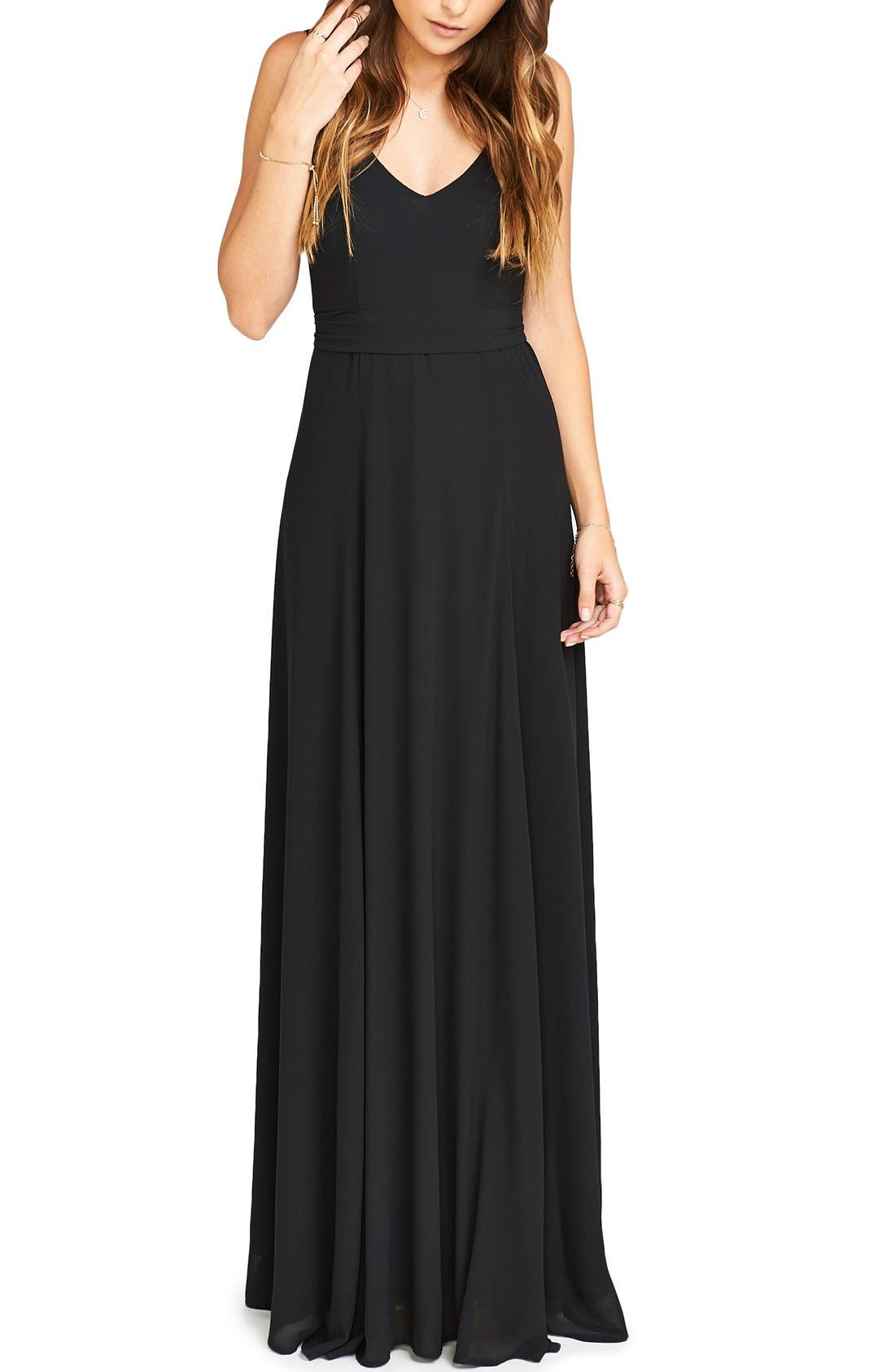 Black flowing dresses