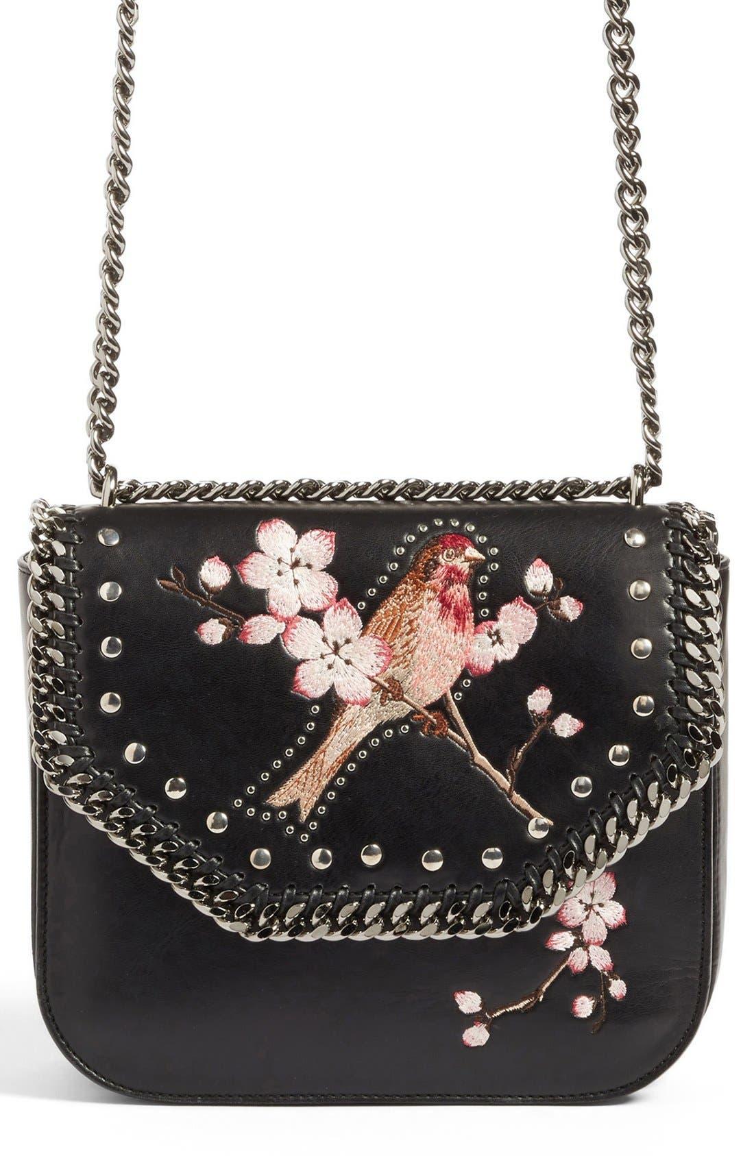 STELLA MCCARTNEY Black Falabella Box Bird Shoulder Bag