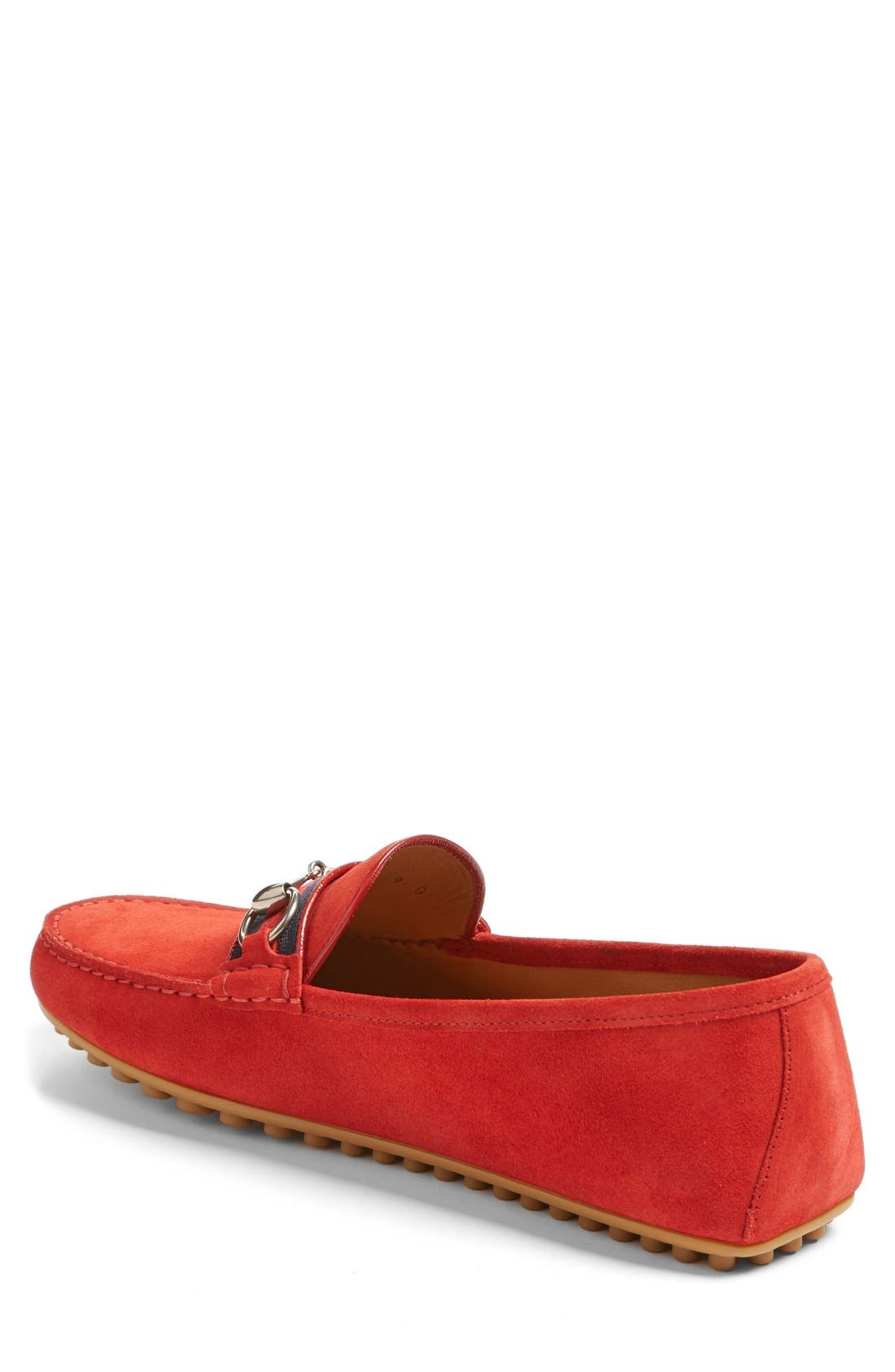 Kanye Bit Loafer,                             Alternate thumbnail 2, color,                             Ruby Suede