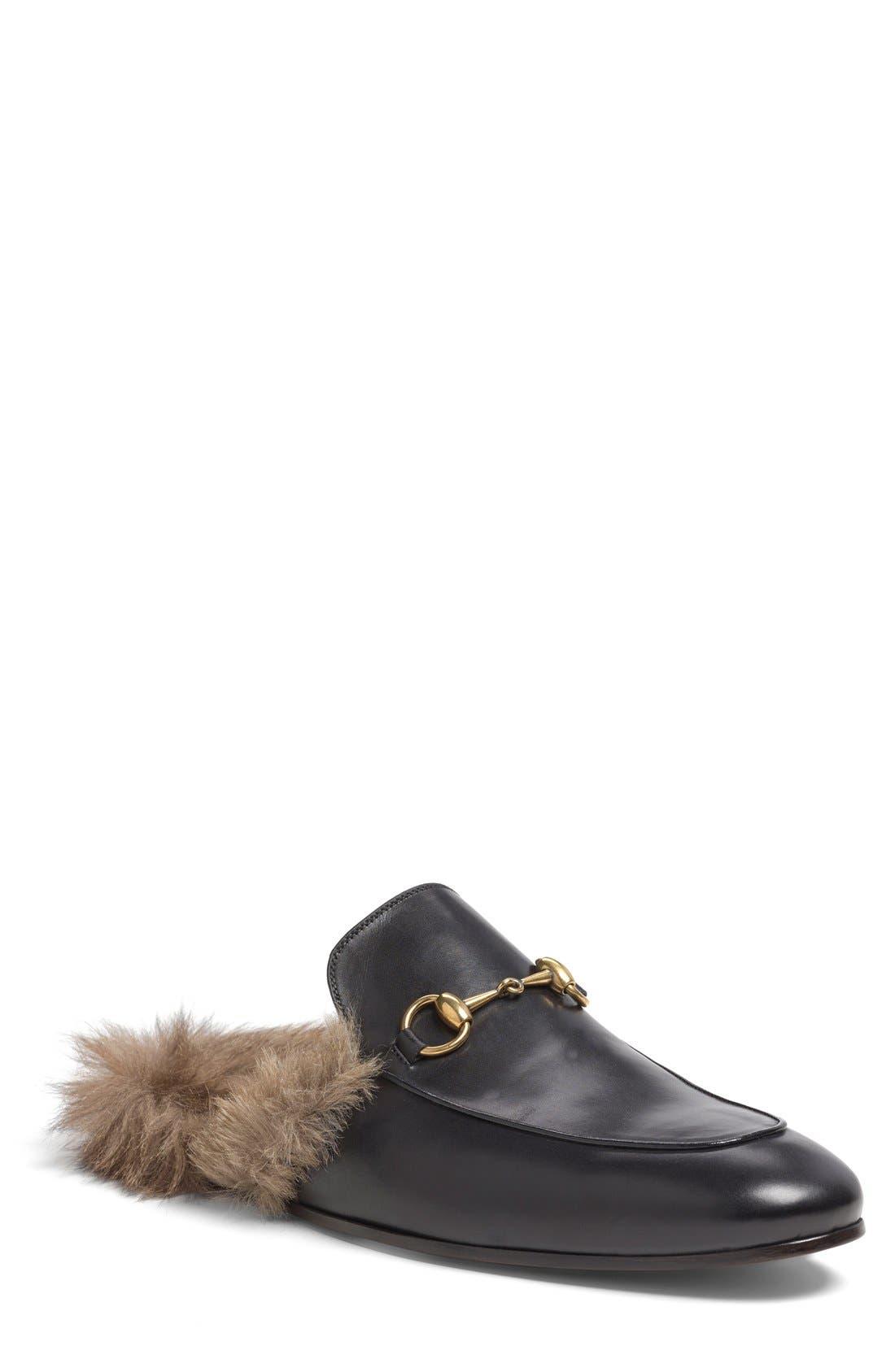 Gucci Princetown Genuine Shearling Slipper (Men)