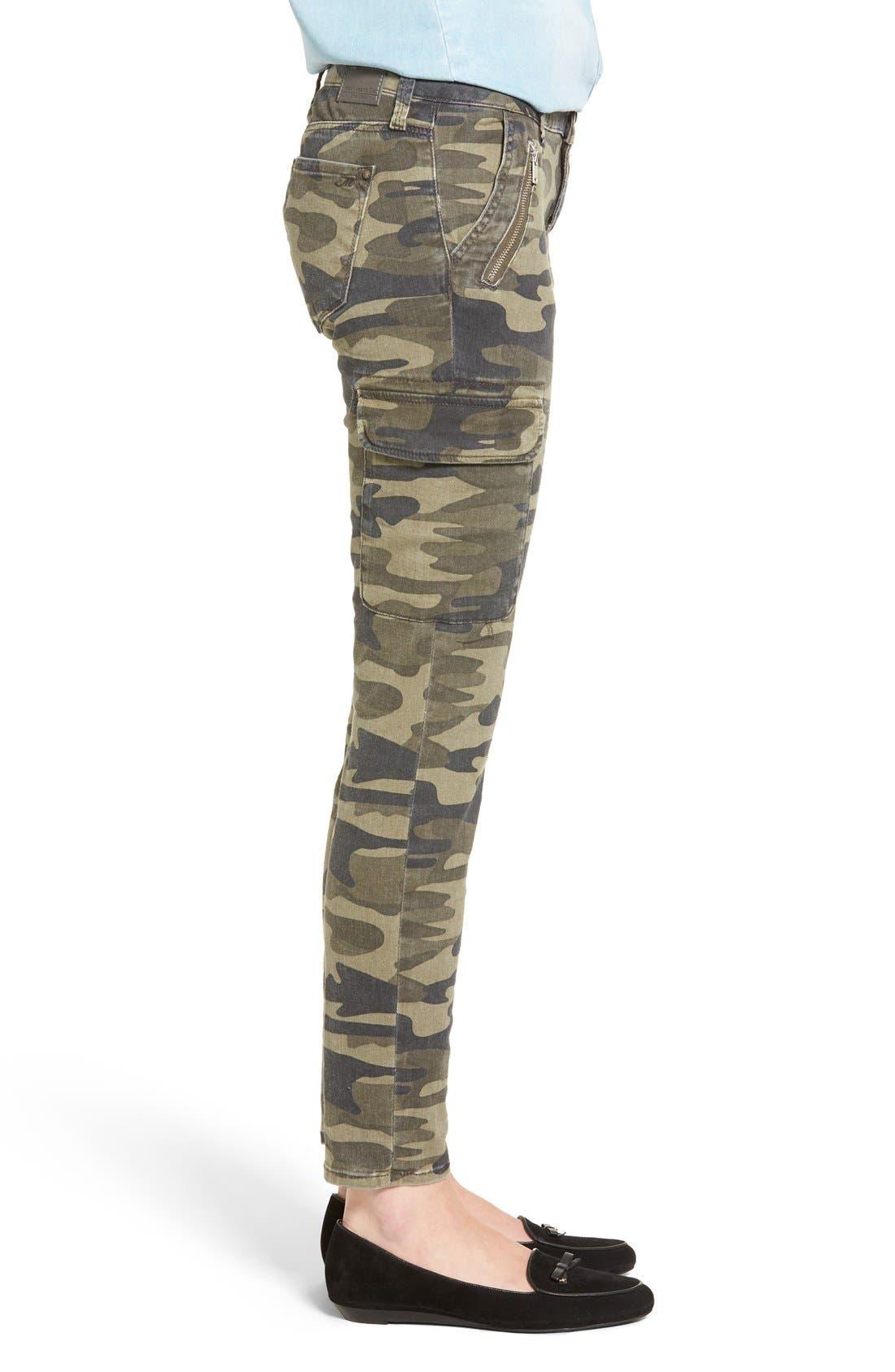 Alternate Image 3  - Mavi Jeans Juliette Camo Print Military Cargo Pants