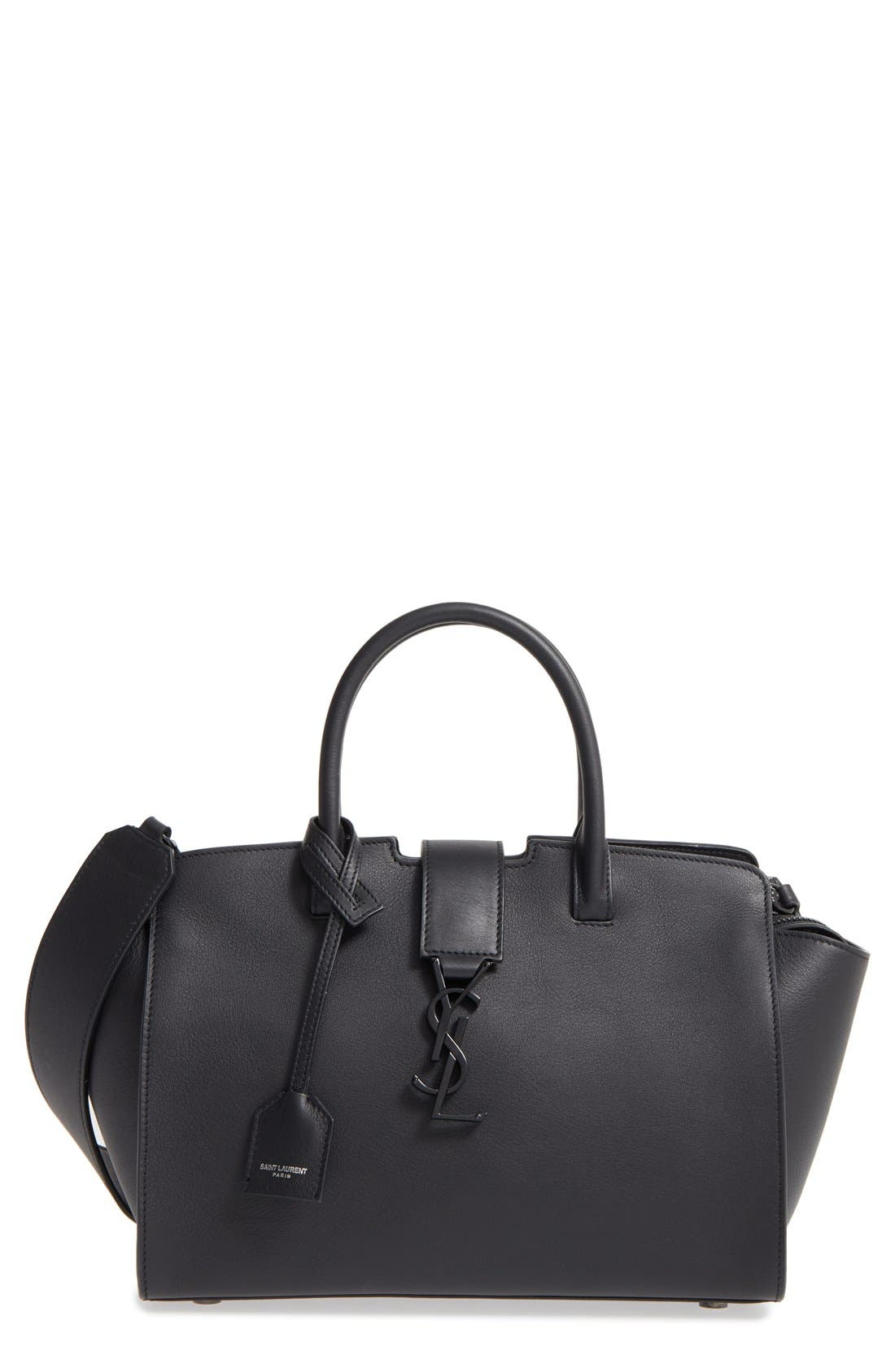 Baby Cabas Calfskin Satchel,                         Main,                         color, Nero