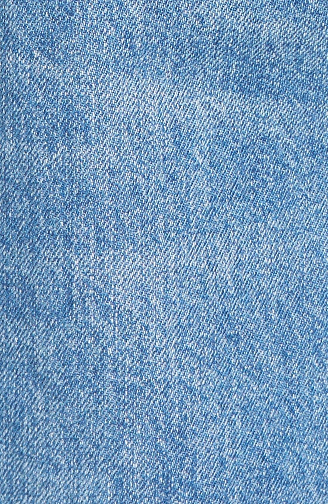 Hepburn High Rise Wide Leg Jeans,                             Alternate thumbnail 5, color,                             Slate