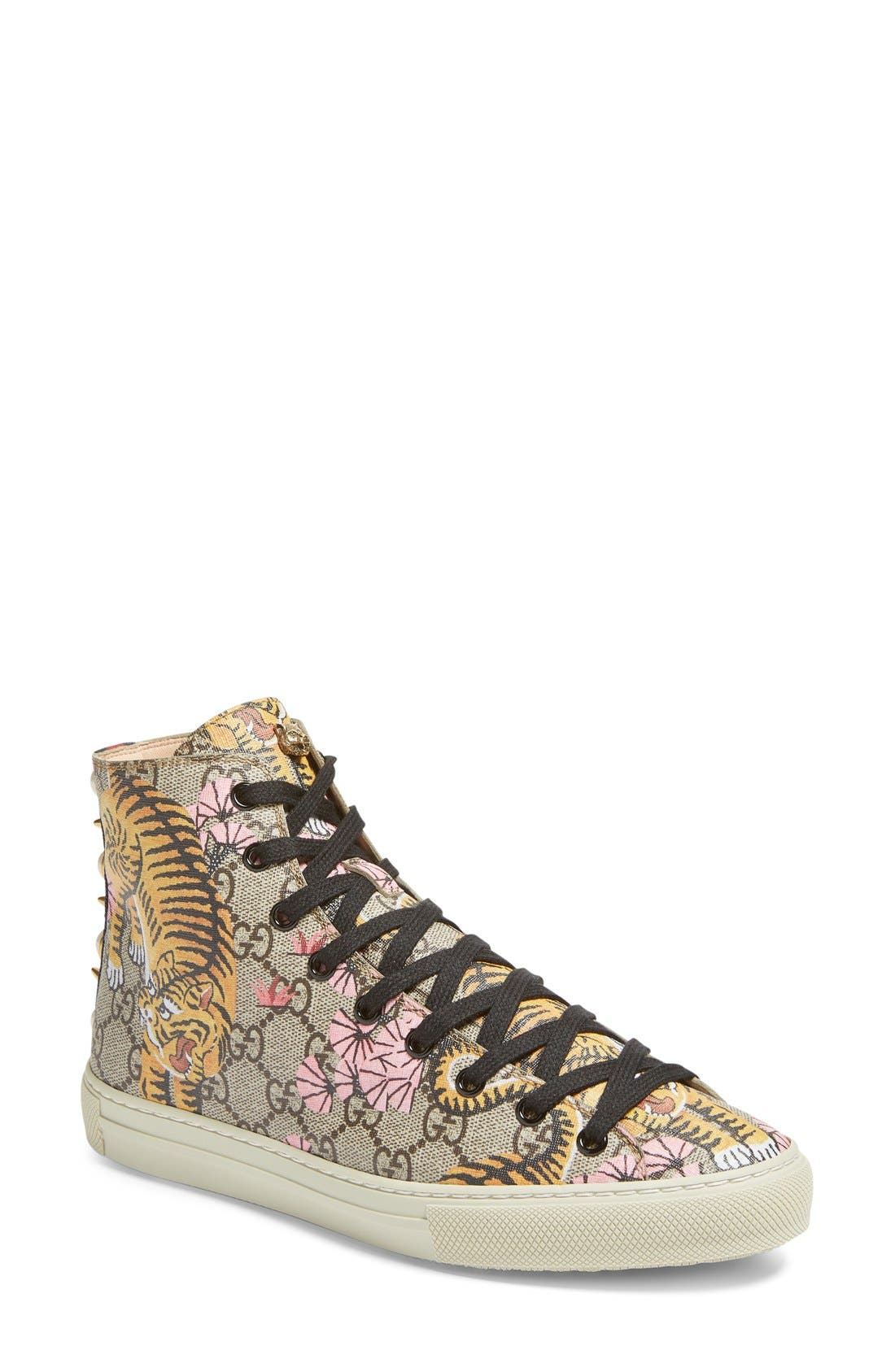 Alternate Image 1 Selected - Gucci Major Tiger High Top Sneaker (Women)
