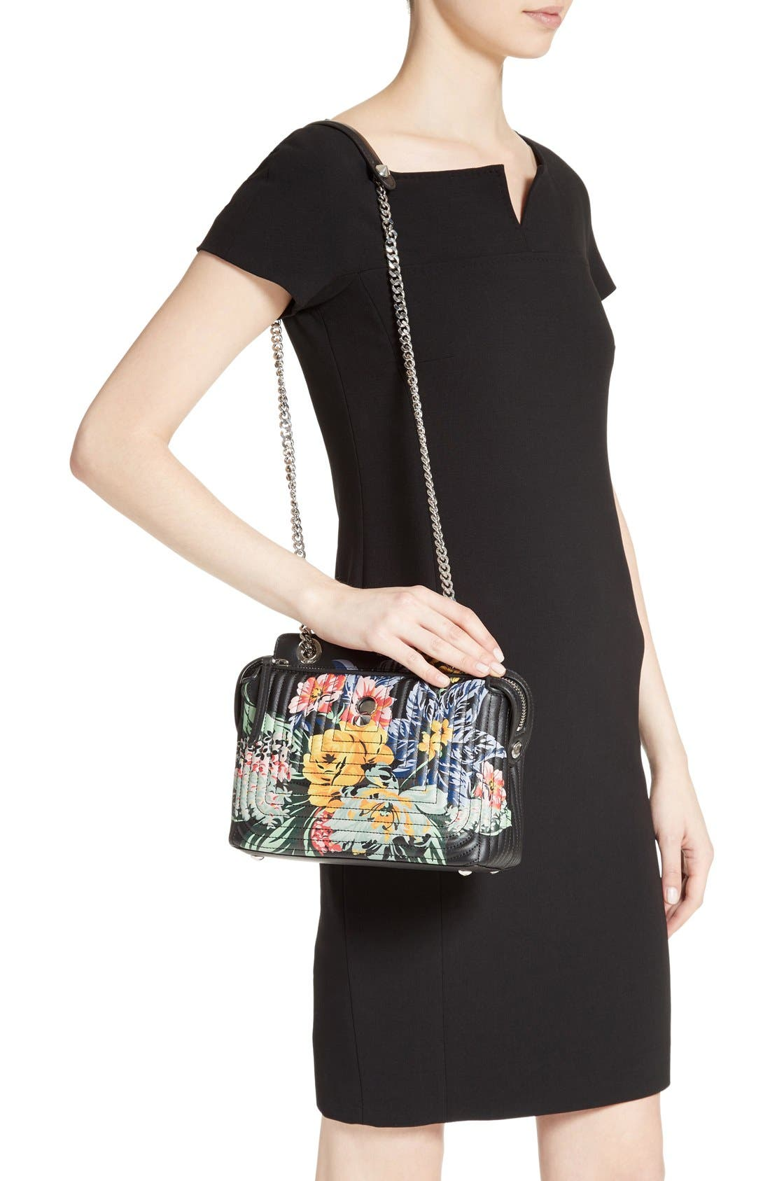 Alternate Image 2  - Fendi DOTCOM Click Flower Quilted Leather Shoulder Bag