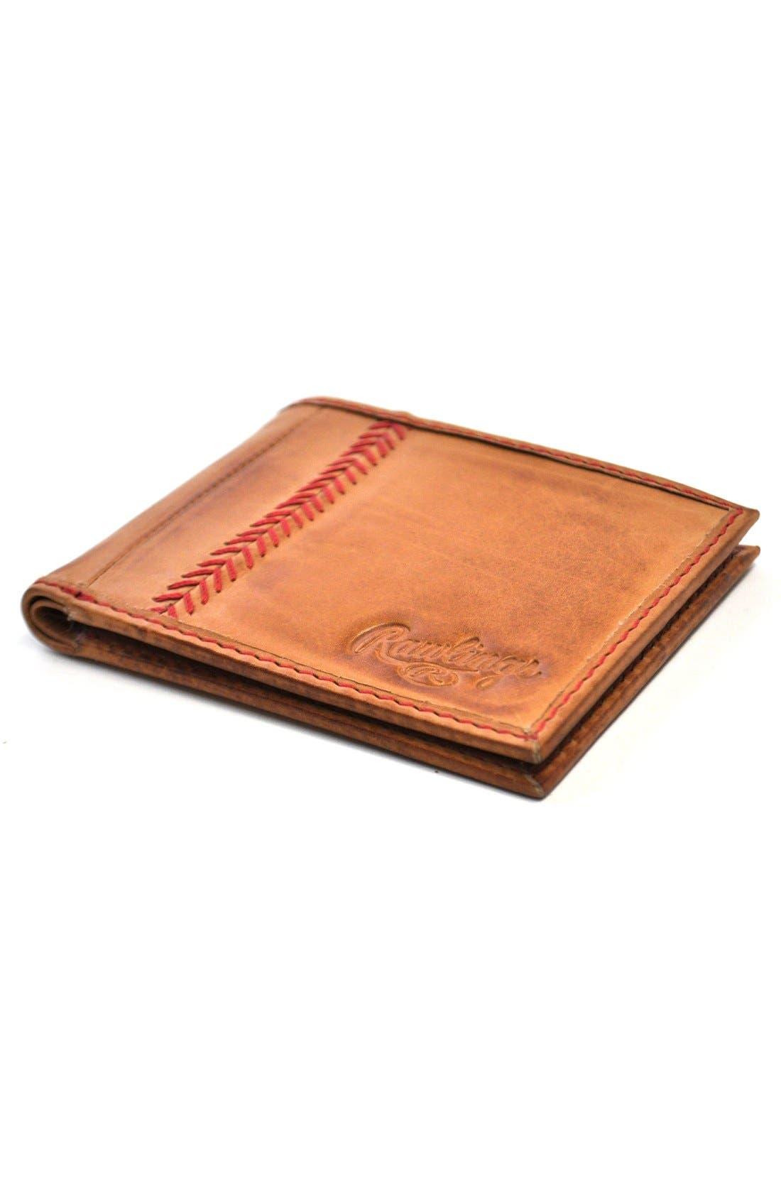 Alternate Image 4  - Rawlings® Baseball Stitch Wallet