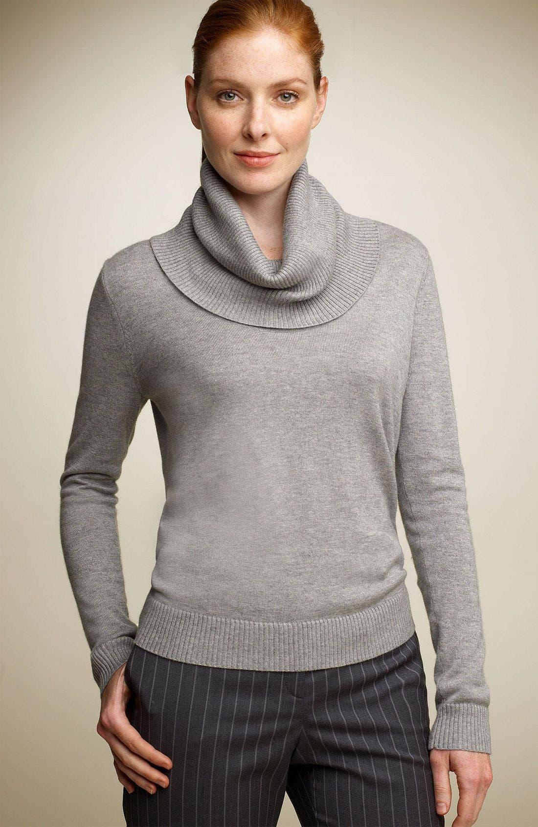 Alternate Image 1 Selected - Façonnable Draped Turtleneck Sweater