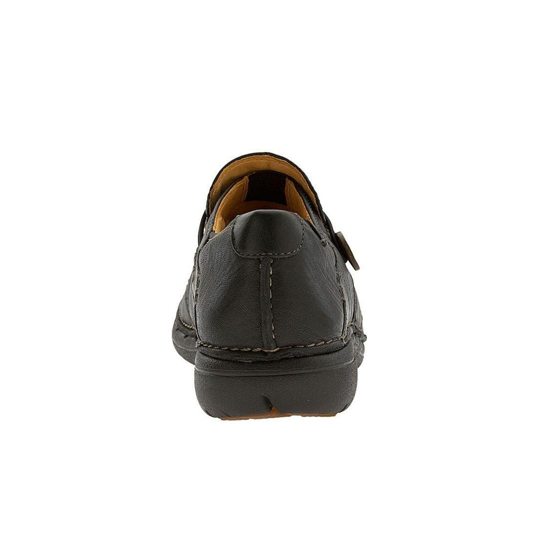 Unstructured 'Un.Loop' Slip-On,                             Alternate thumbnail 4, color,                             Black Leather