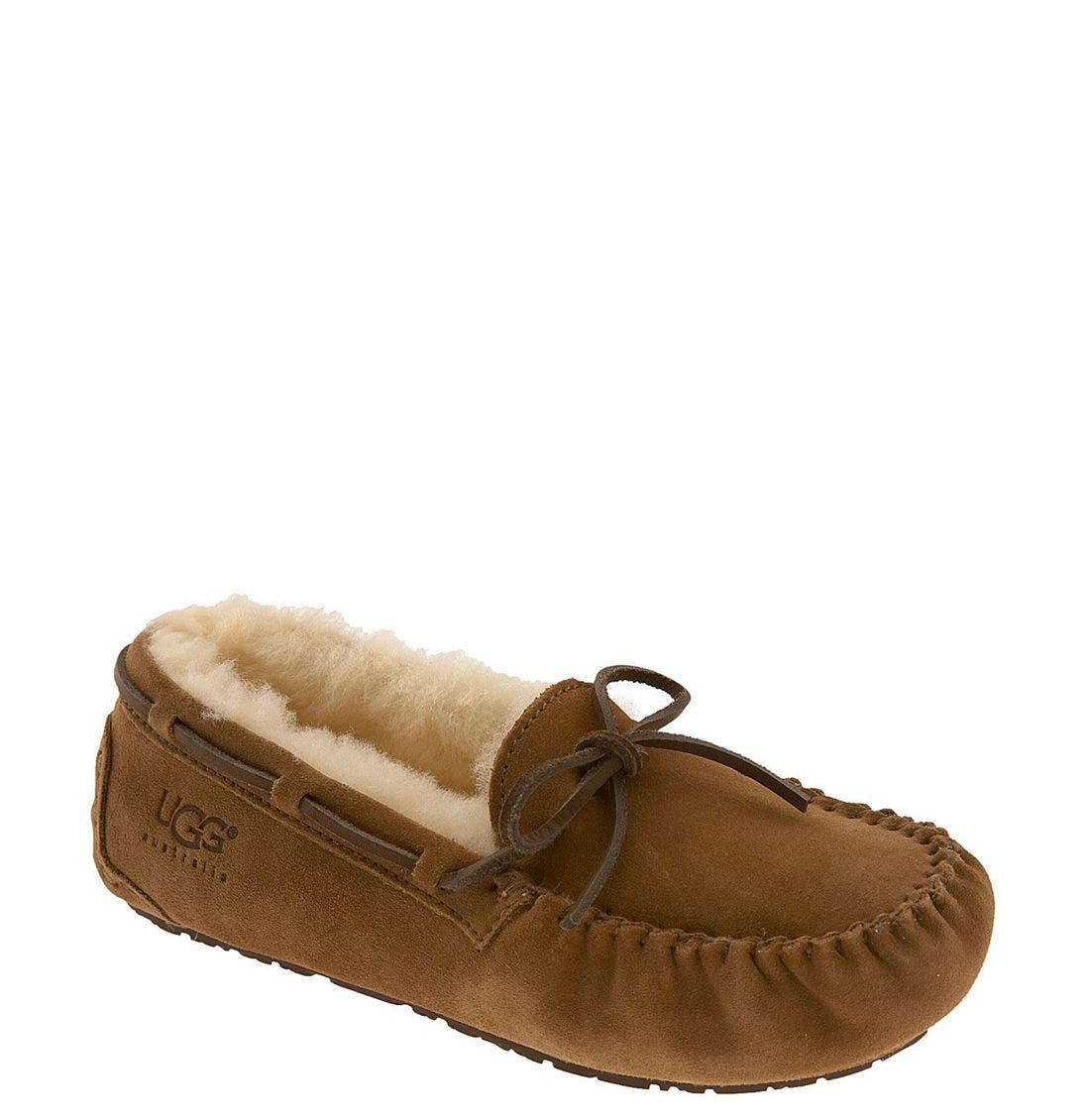 UGG® 'Dakota' Moccasin (Little Kid & Big Kid)