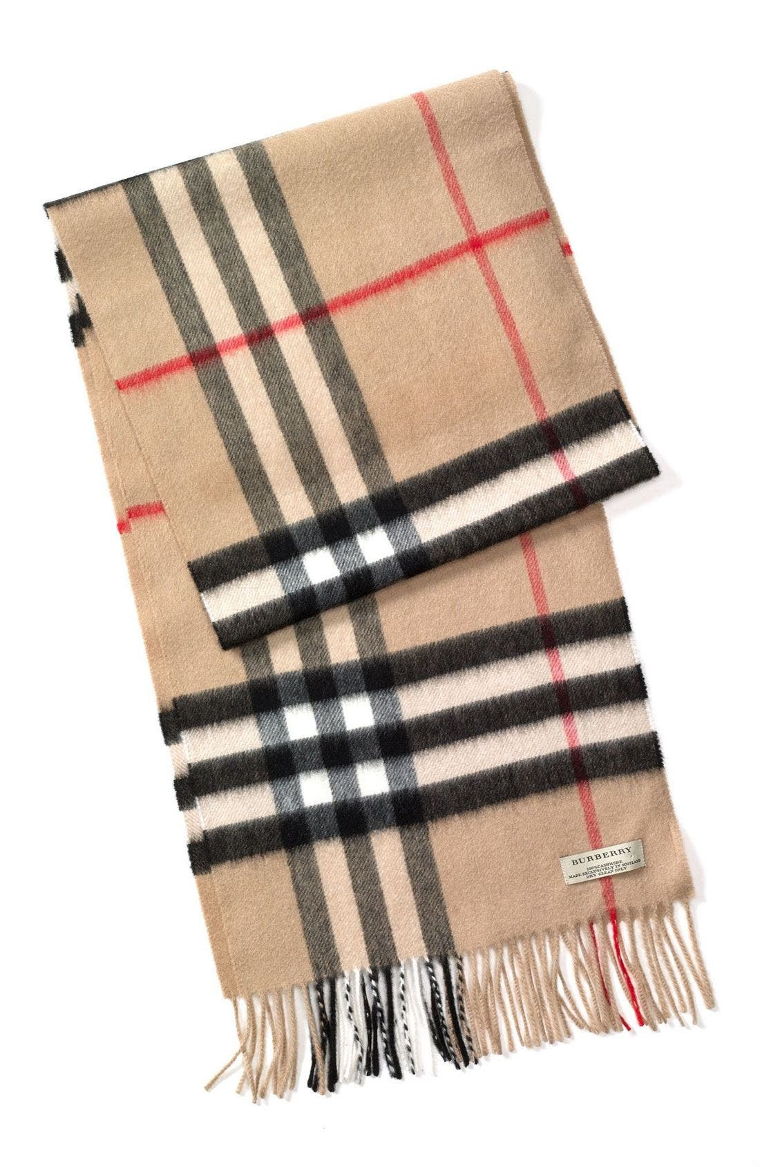Main Image - Burberry Heritage Check Cashmere Scarf
