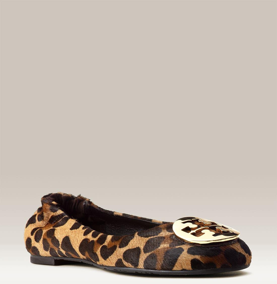 Main Image - Tory Burch 'Reva' Leopard Ballerina Flat