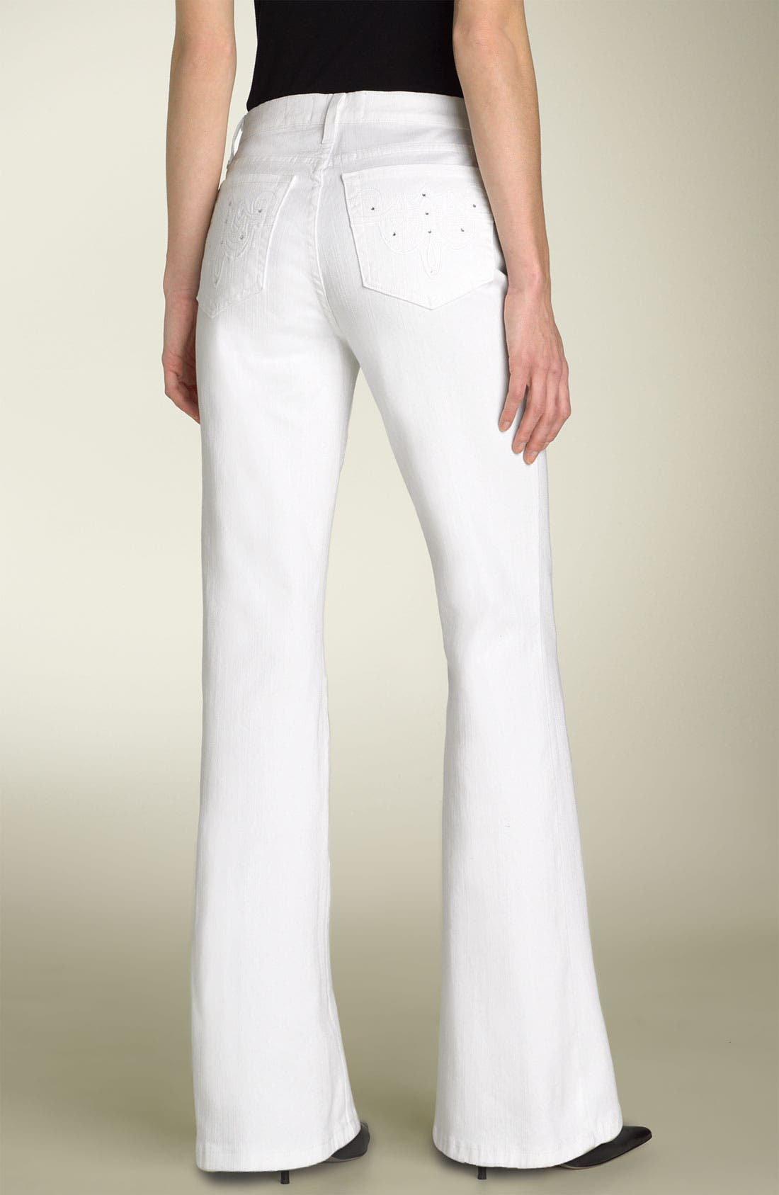 Main Image - Not Your Daughter's Jeans® Tummy Tuck® Rhinestone Bootcut Jeans (Petite)