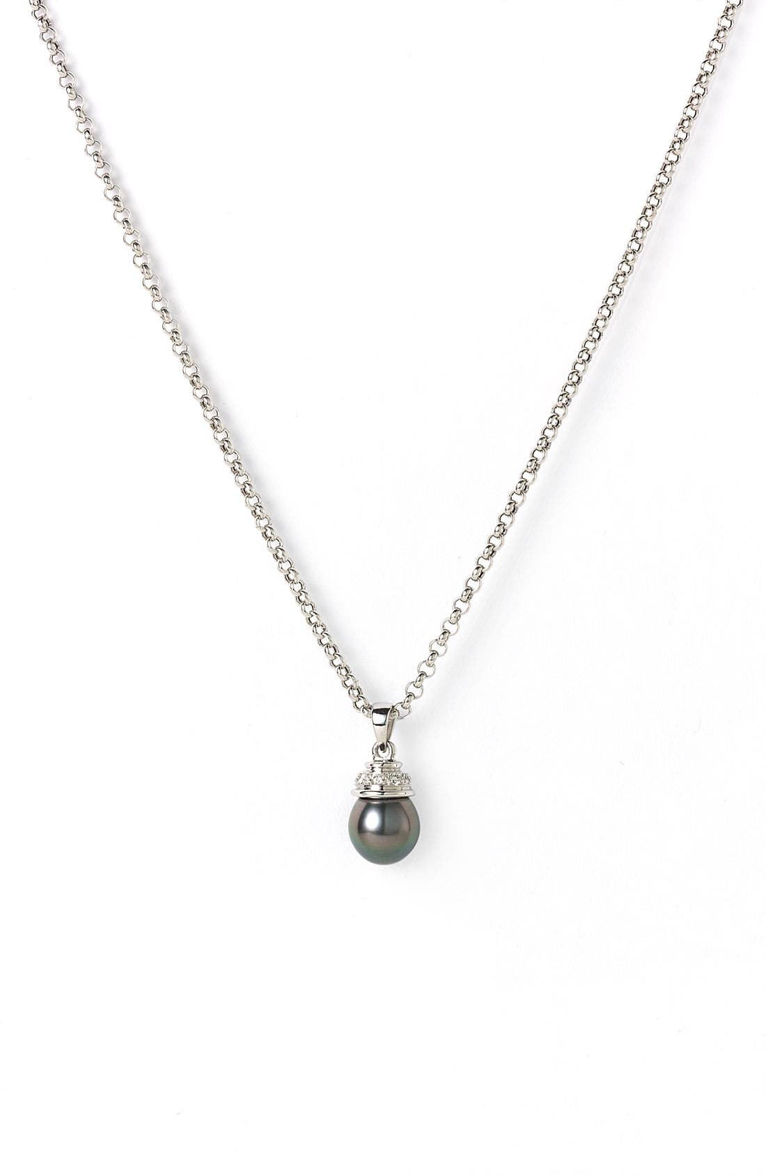 Alternate Image 1 Selected - Mastoloni Tahitian Pearl Pendant Necklace