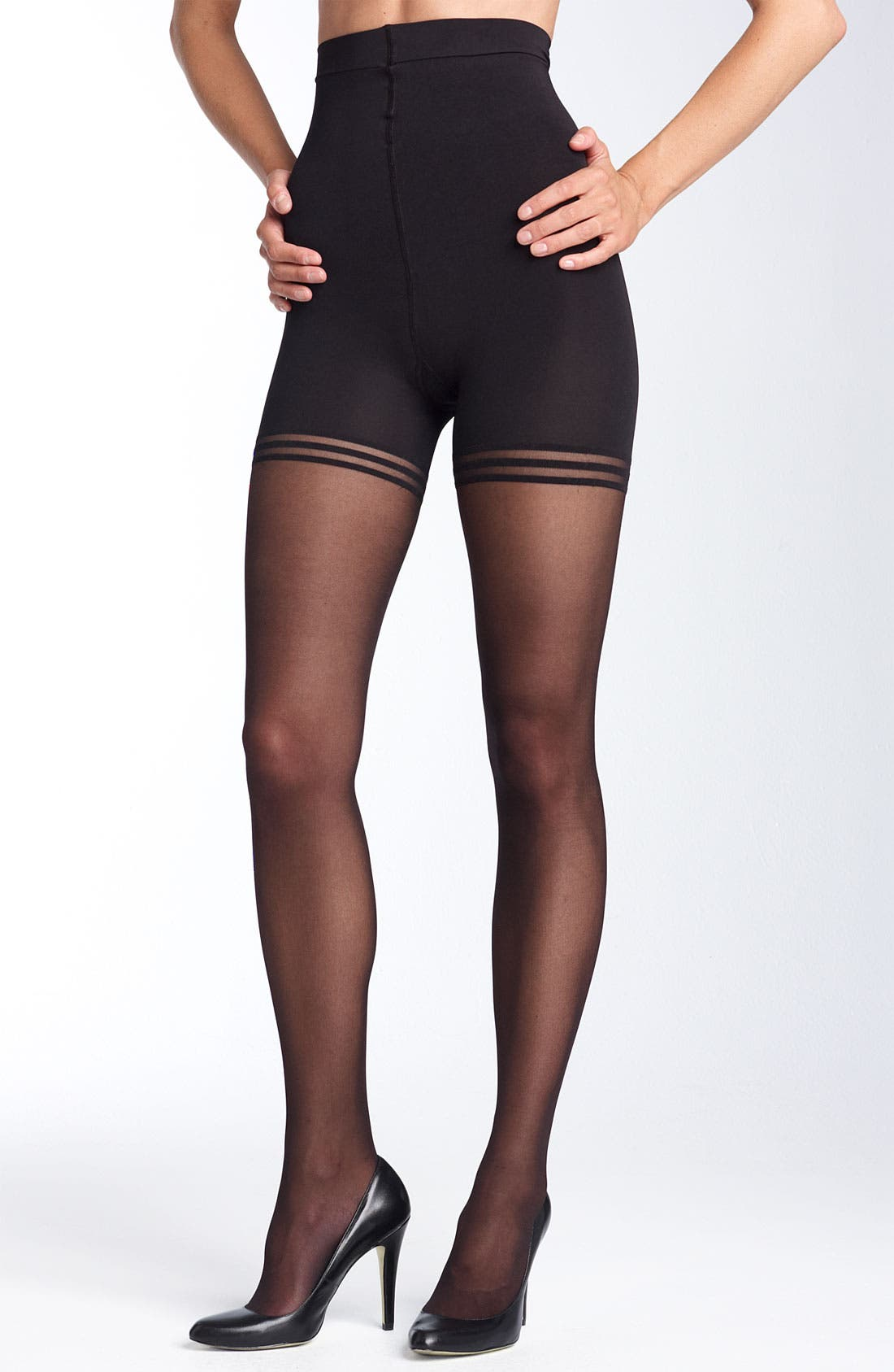 Main Image - Donna Karan 'Sheer Satin Ultimate Toner' Pantyhose