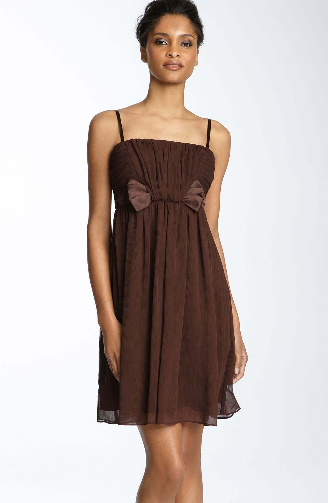 Alternate Image 1 Selected - Maggy London Bow Detail Chiffon Dress