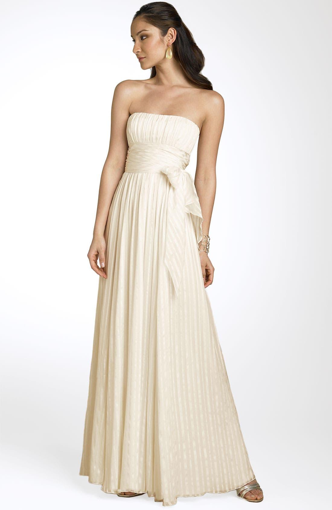 Main Image - BCBGMAXAZRIA Strapless Silk Gown