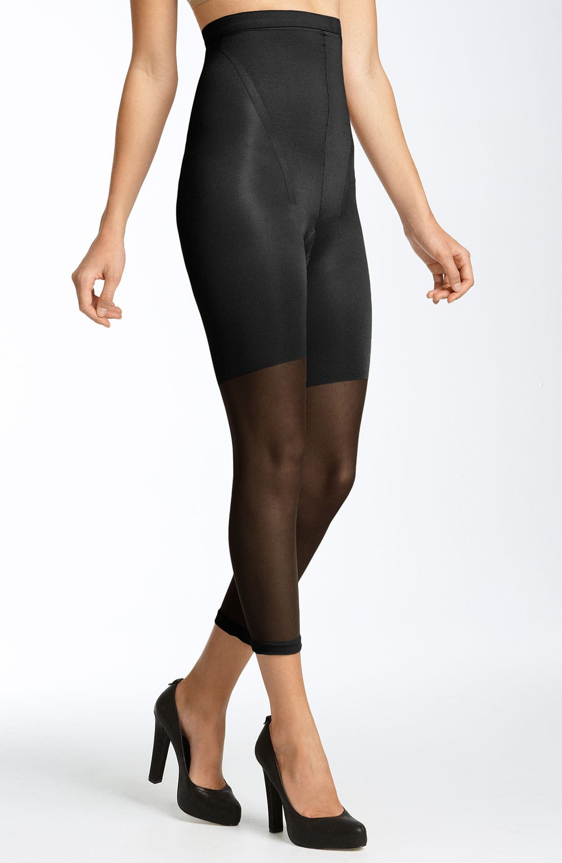 Alternate Image 1 Selected - SPANX® Higher Power High Waist Shaper Capri (Regular & Plus Size)